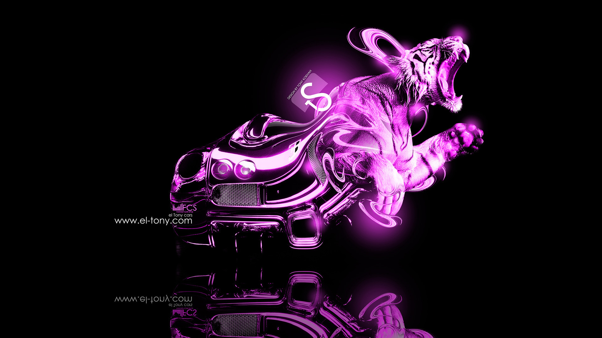 1920x1080 Myxer - Wallpaper - pink tiger - Polyvore