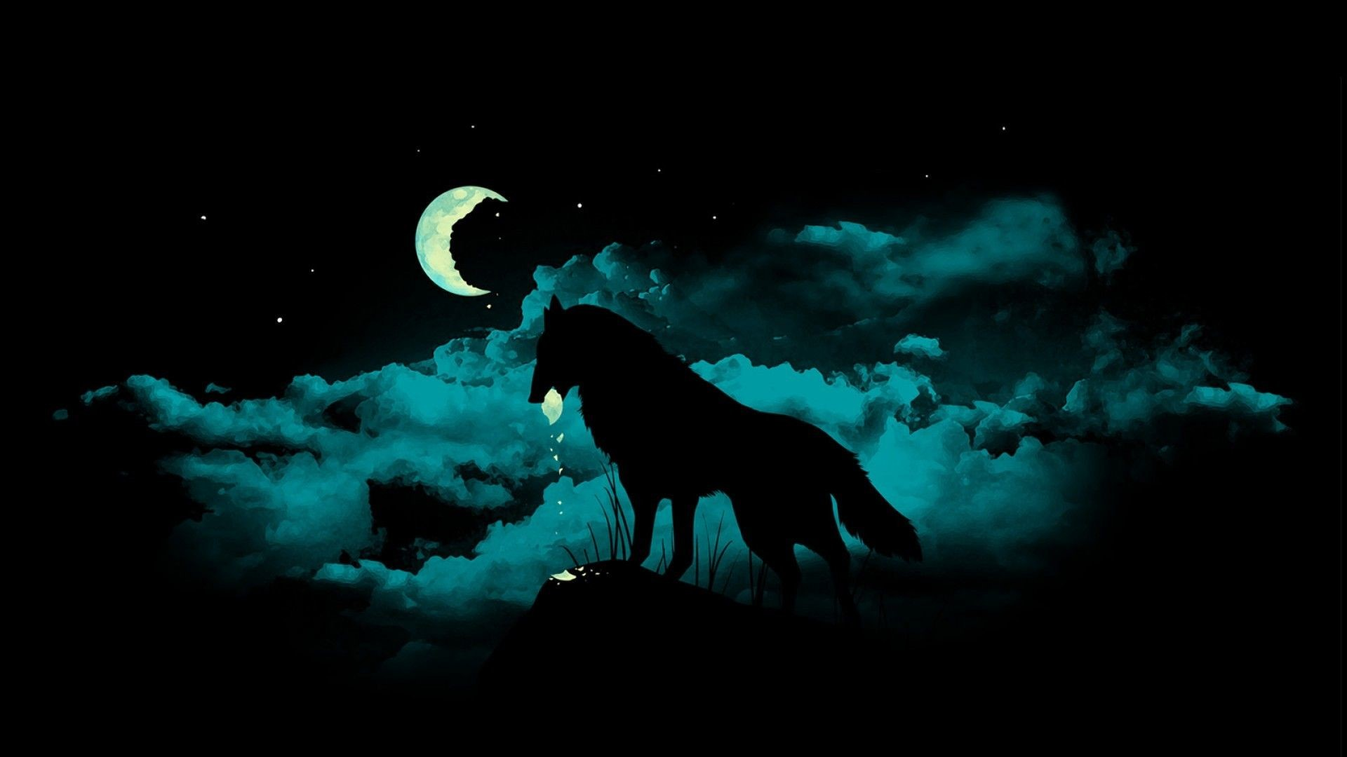 1920x1080 Wallpapers For > Black Wolf Backgrounds