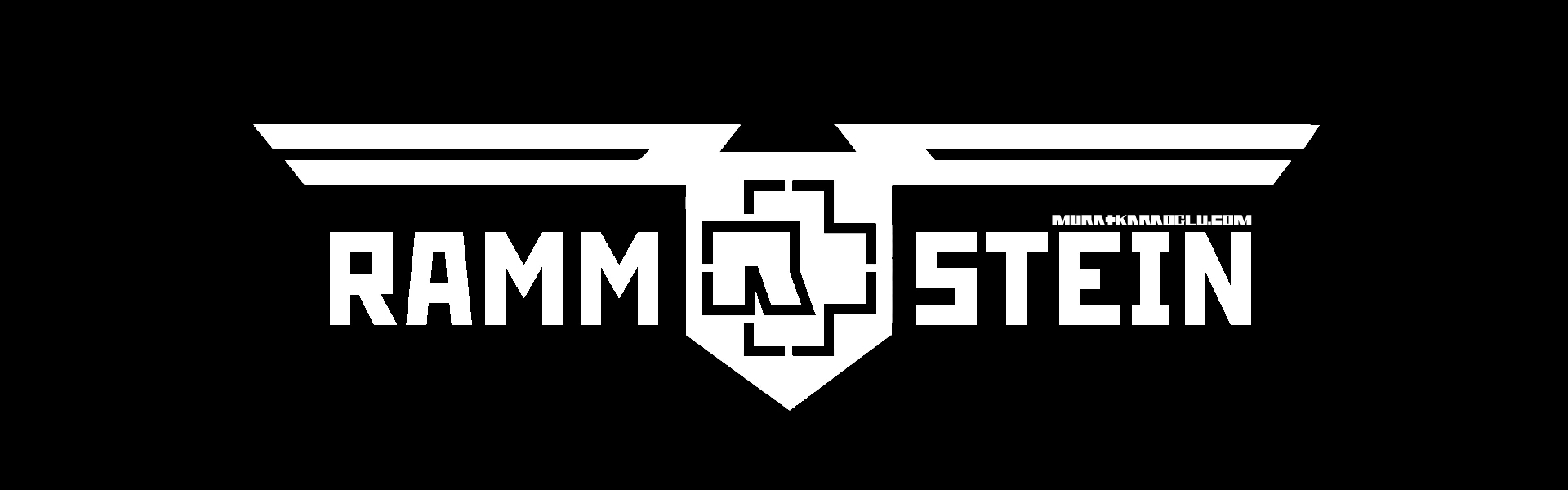 3840x1200 Preview wallpaper rammstein, symbol, name, font, background