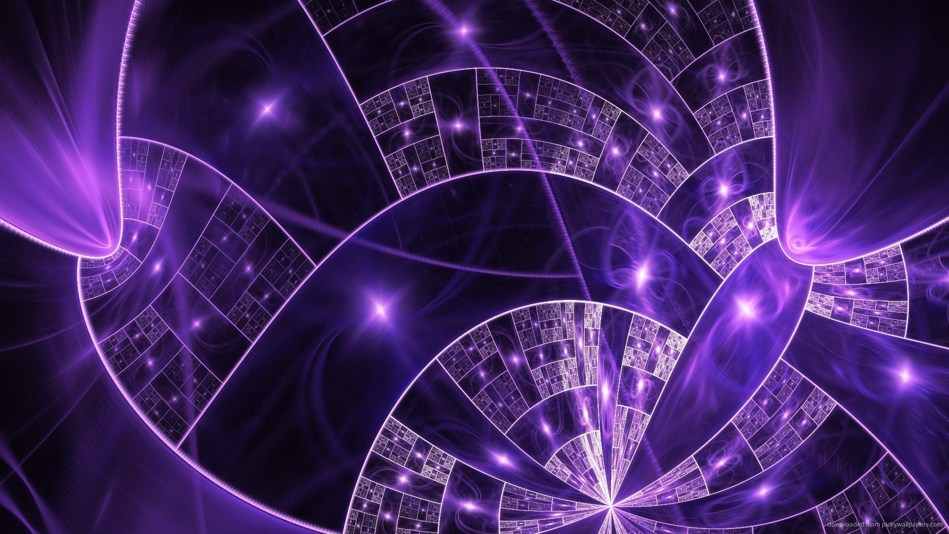 1920x1080 Abstract Purple Fractal Desktop Wallpaper picture