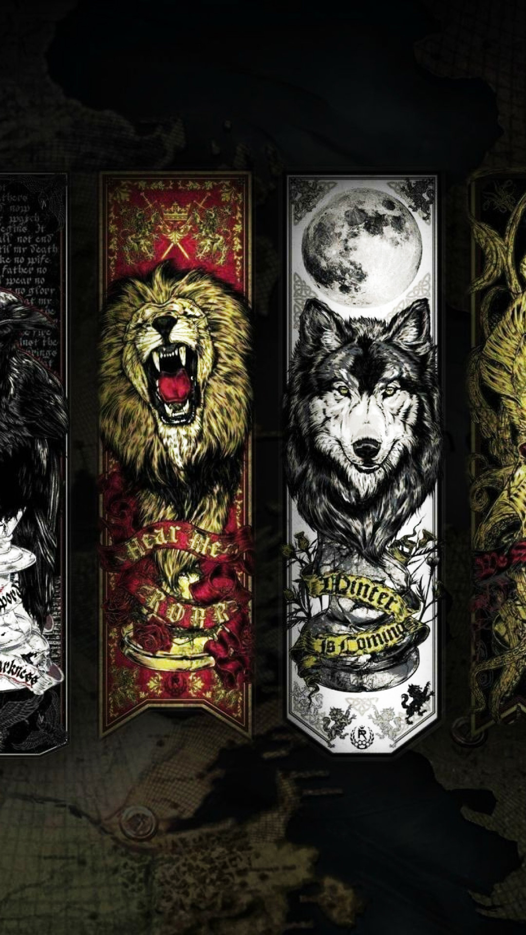 1080x1920 Game Of Thrones Lannister Stark House Wolf Lion Android Wallpaper