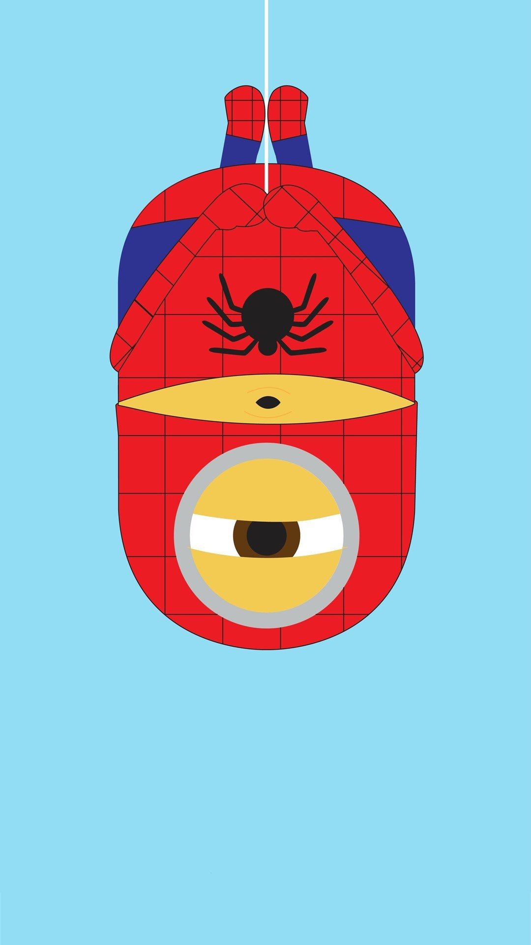 1080x1920 2014 spider-man minion iphone 6 plus wallpaper from Despicable Me for  Halloween #2014