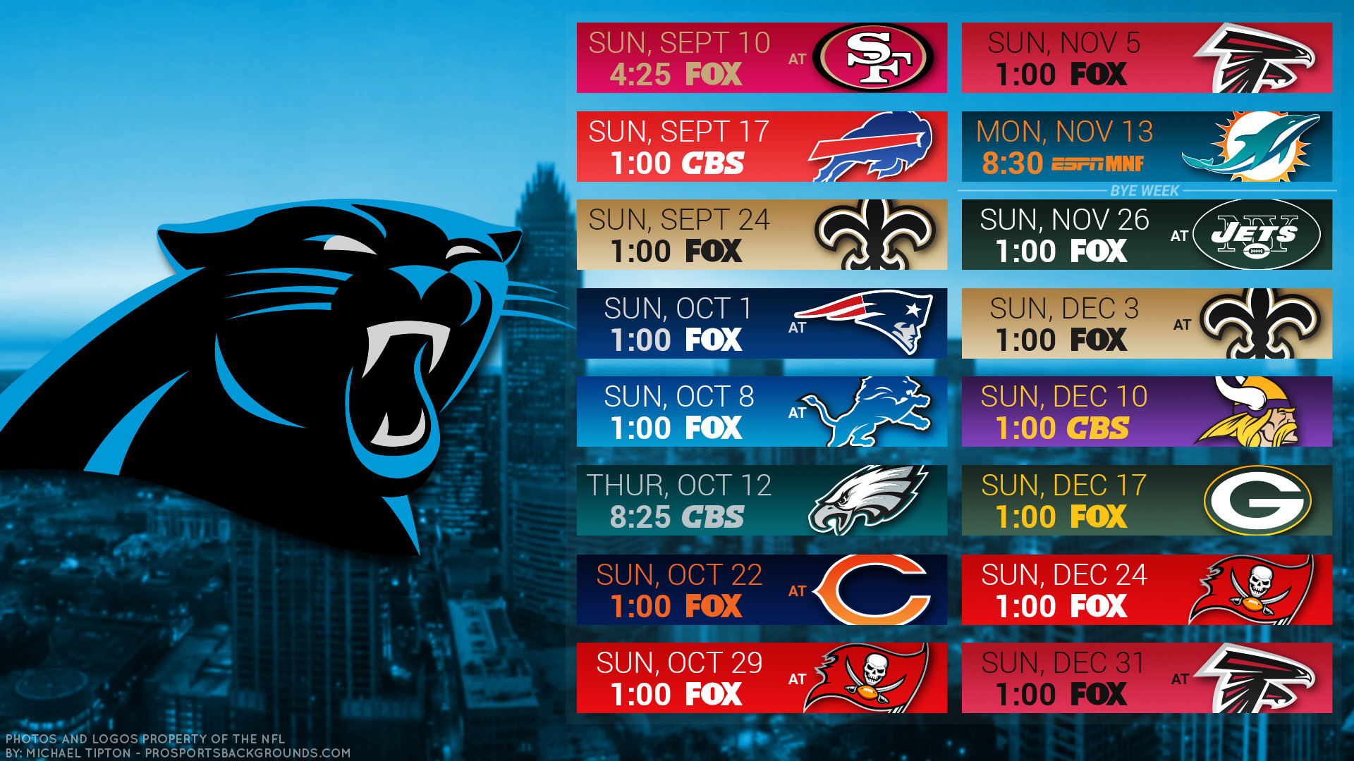 1920x1080 Carolina Panthers 2017 schedule city football logo wallpaper free pc  desktop computer ...