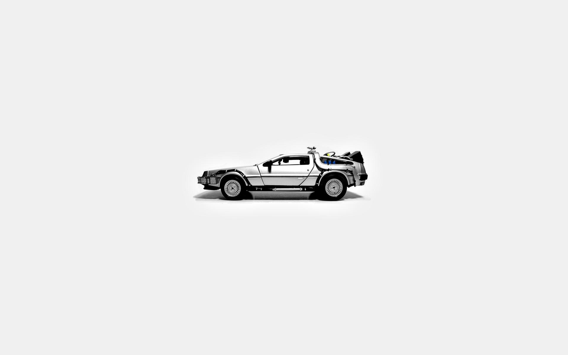 1920x1200 Back To The Future, DeLorean, Simple Background Wallpapers HD / Desktop and  Mobile Backgrounds