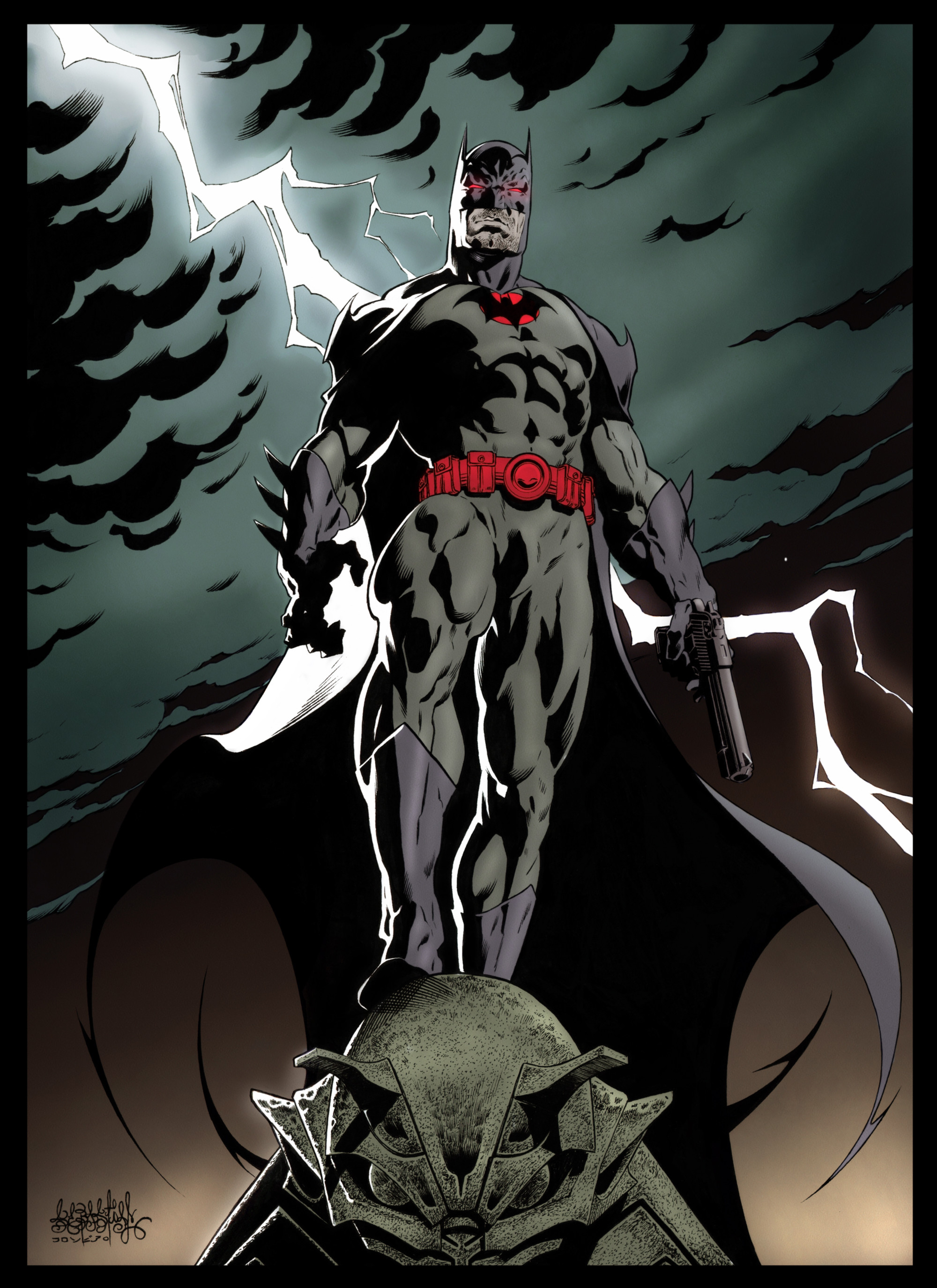 2000x2750 batman_flashpoint_thomas_wayne_color_by_garnabiuth-dar2p4n.jpg 2.000×2.750  pixels | Wallpaper Iphone | Pinterest