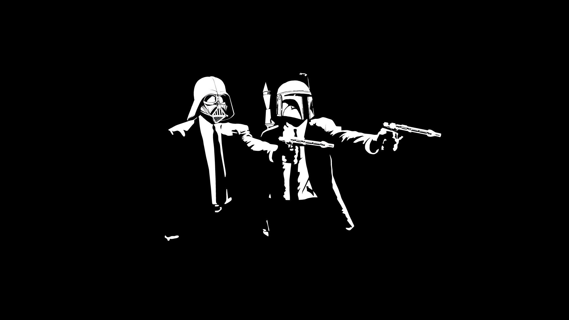 1920x1080 Star Wars, Pulp Fiction, Boba Fett, Darth Vader Wallpapers HD / Desktop and  Mobile Backgrounds