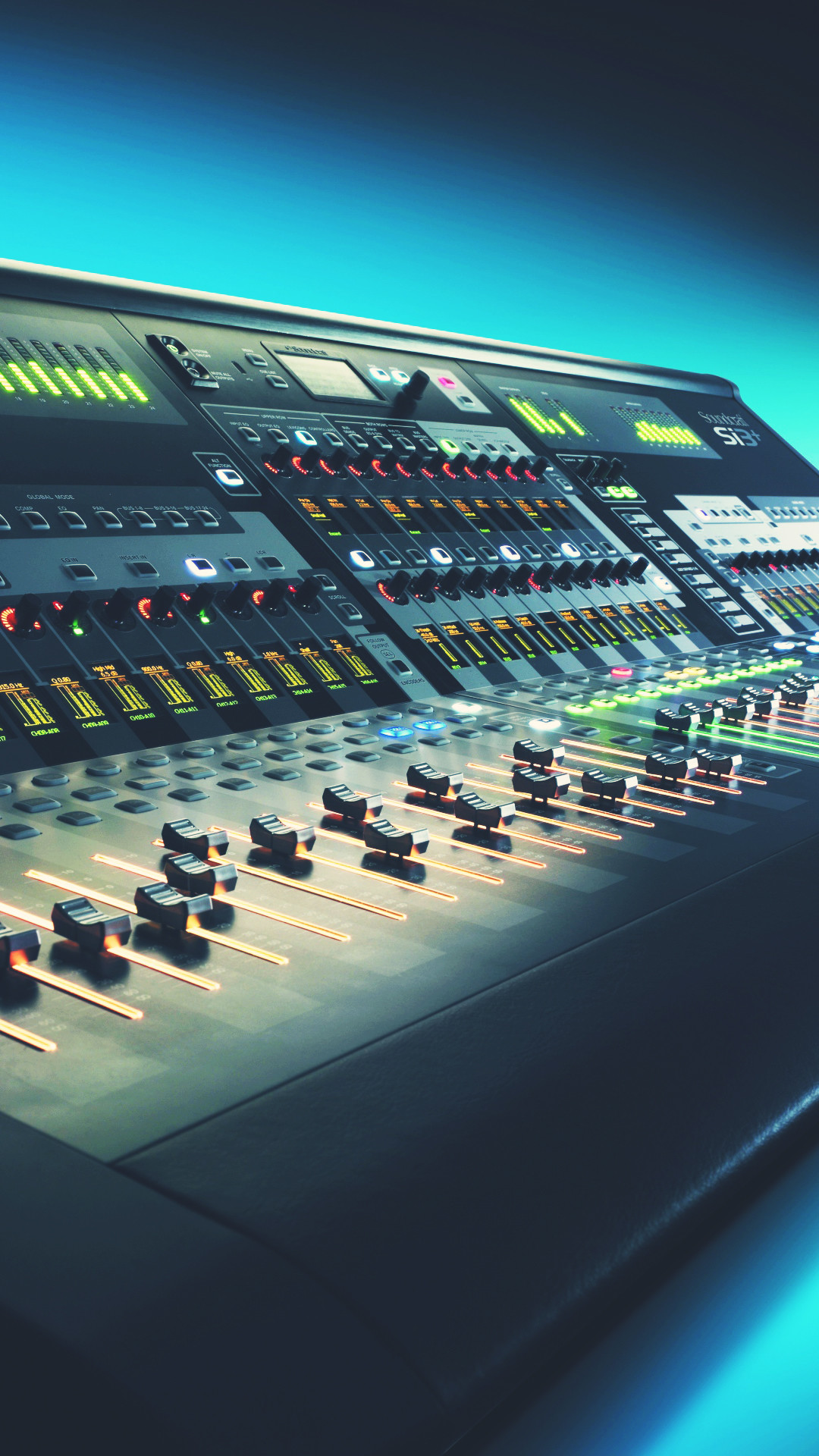 1080x1920 Digital Mixing Console Music Studio Android Wallpaper ...