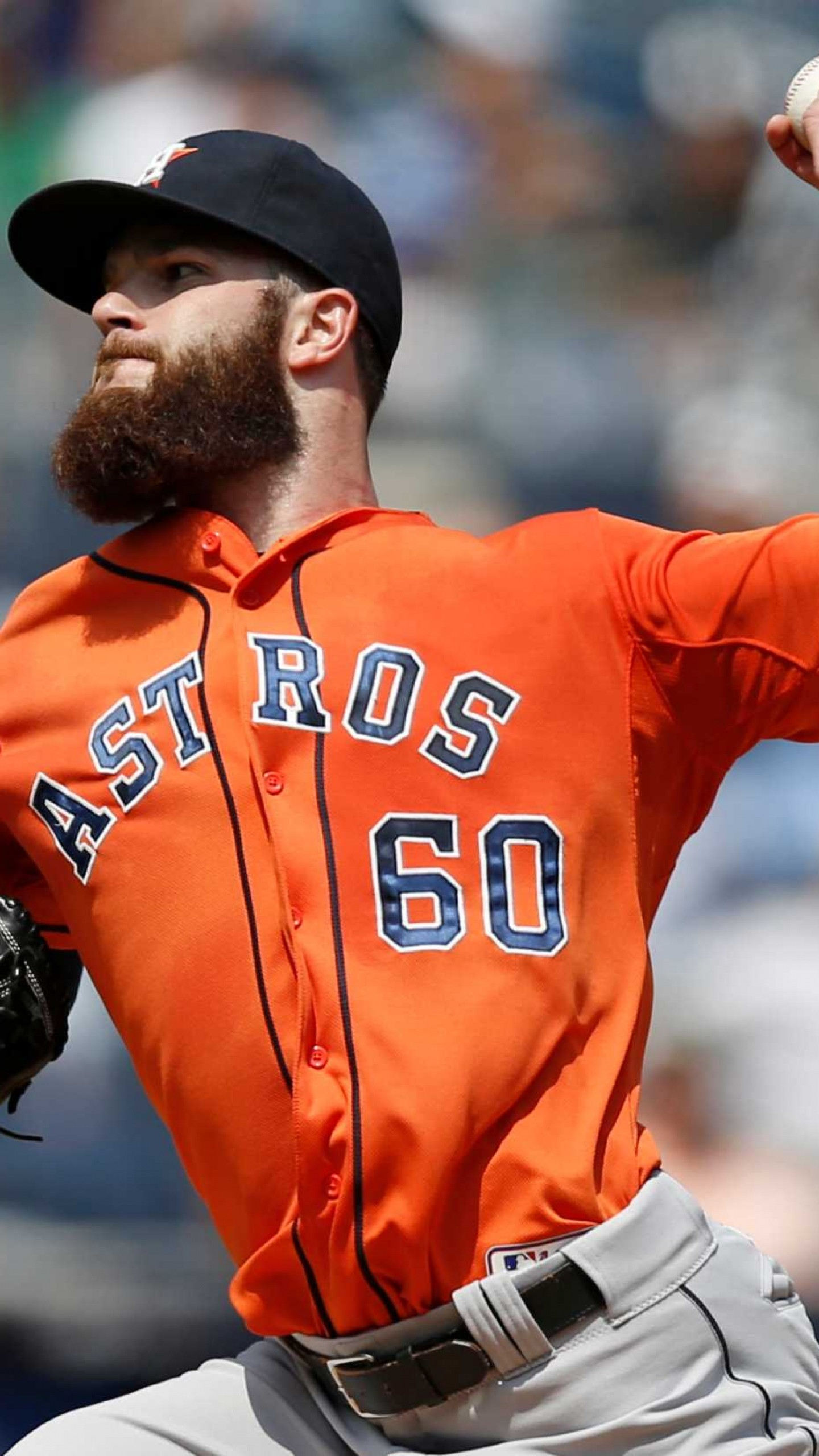 1440x2560  Wallpaper dallas keuchel, baseball, houston astros