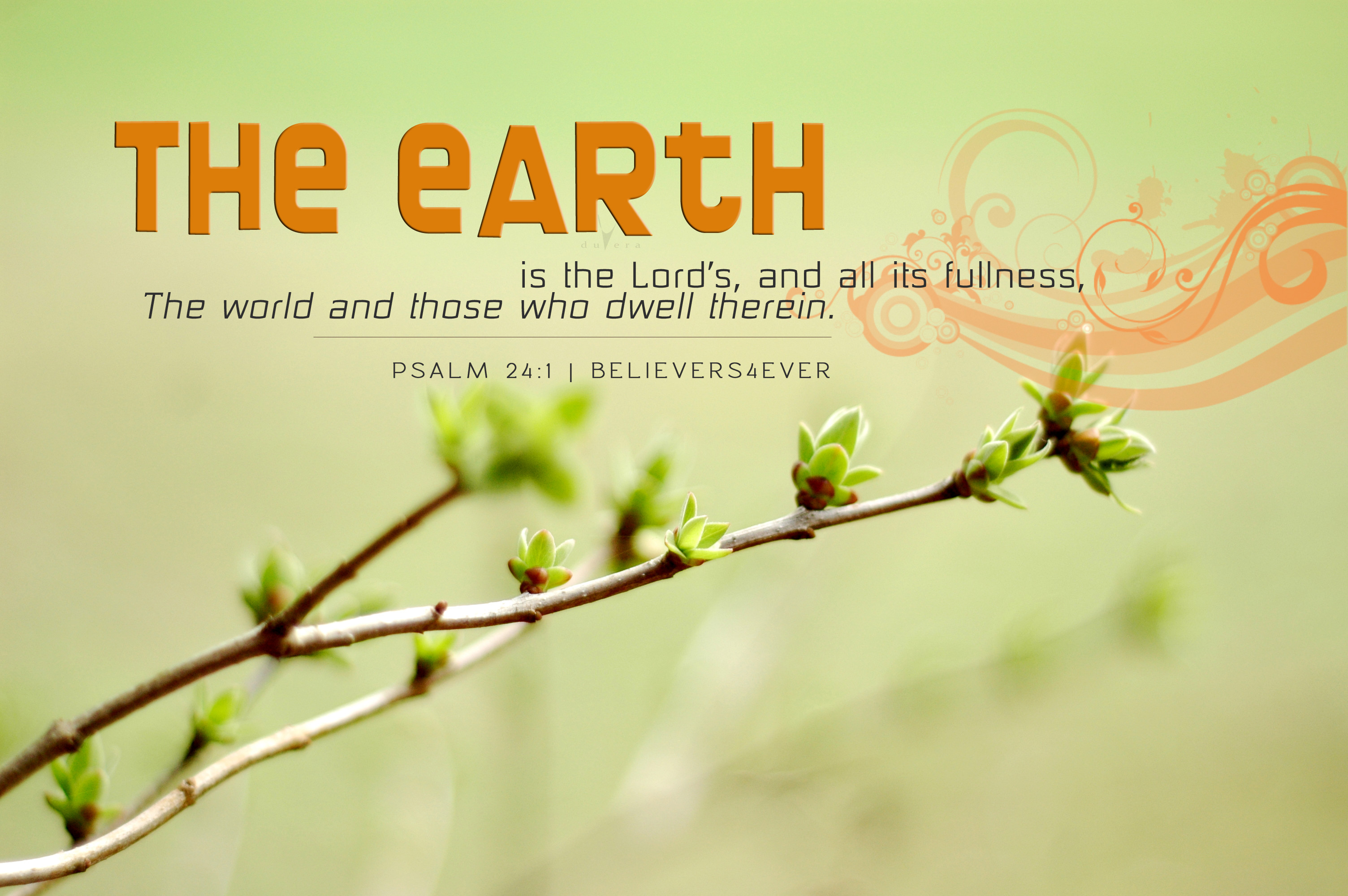 3008x2000 The earth is the Lord's