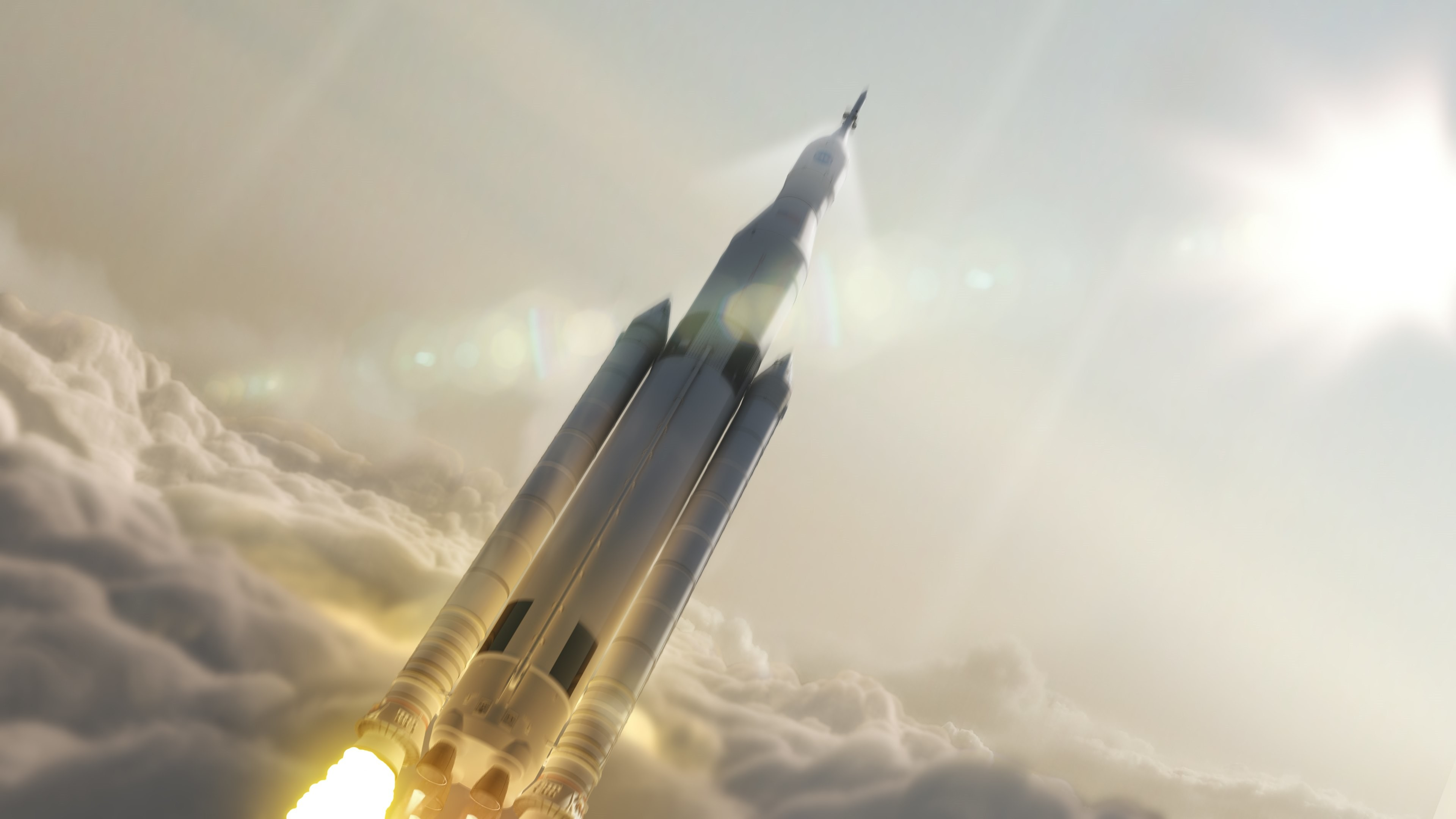 3840x2160 4K HD Wallpaper: NASA Space Launch System