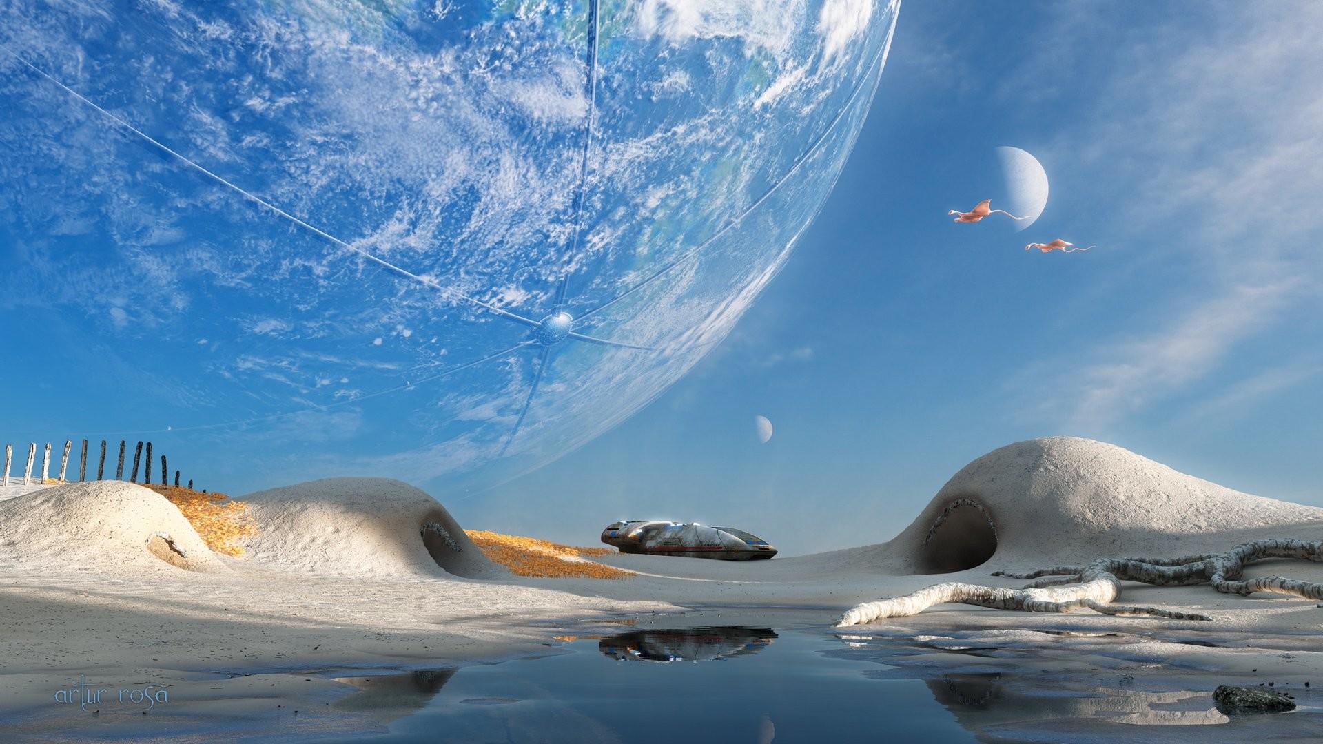 2560x2048 Sci Fi Landscape