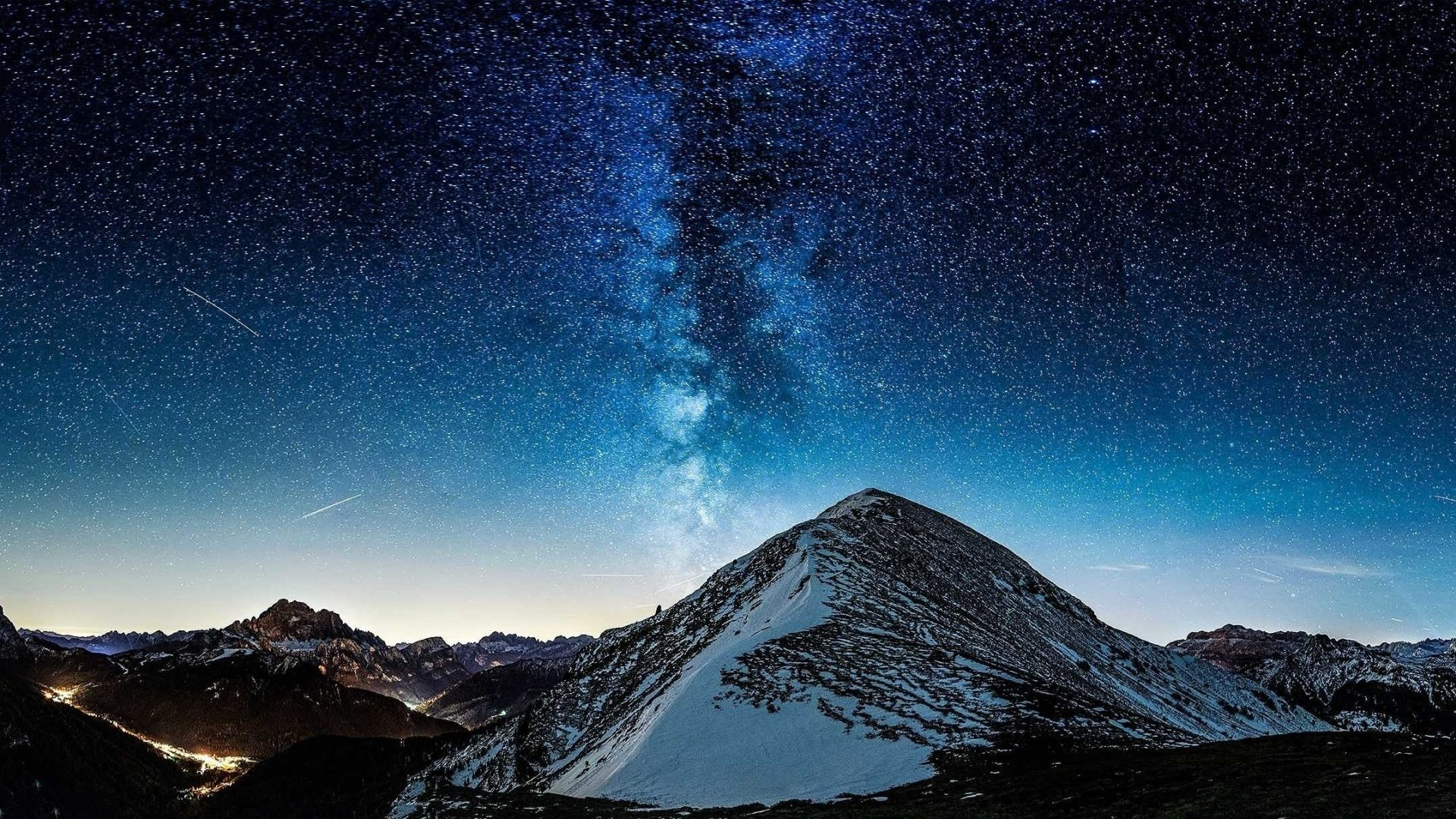 1920x1080 Way Tag - Milky Way Mountains Stars Nature Wallpapers Images for HD 16:9  High