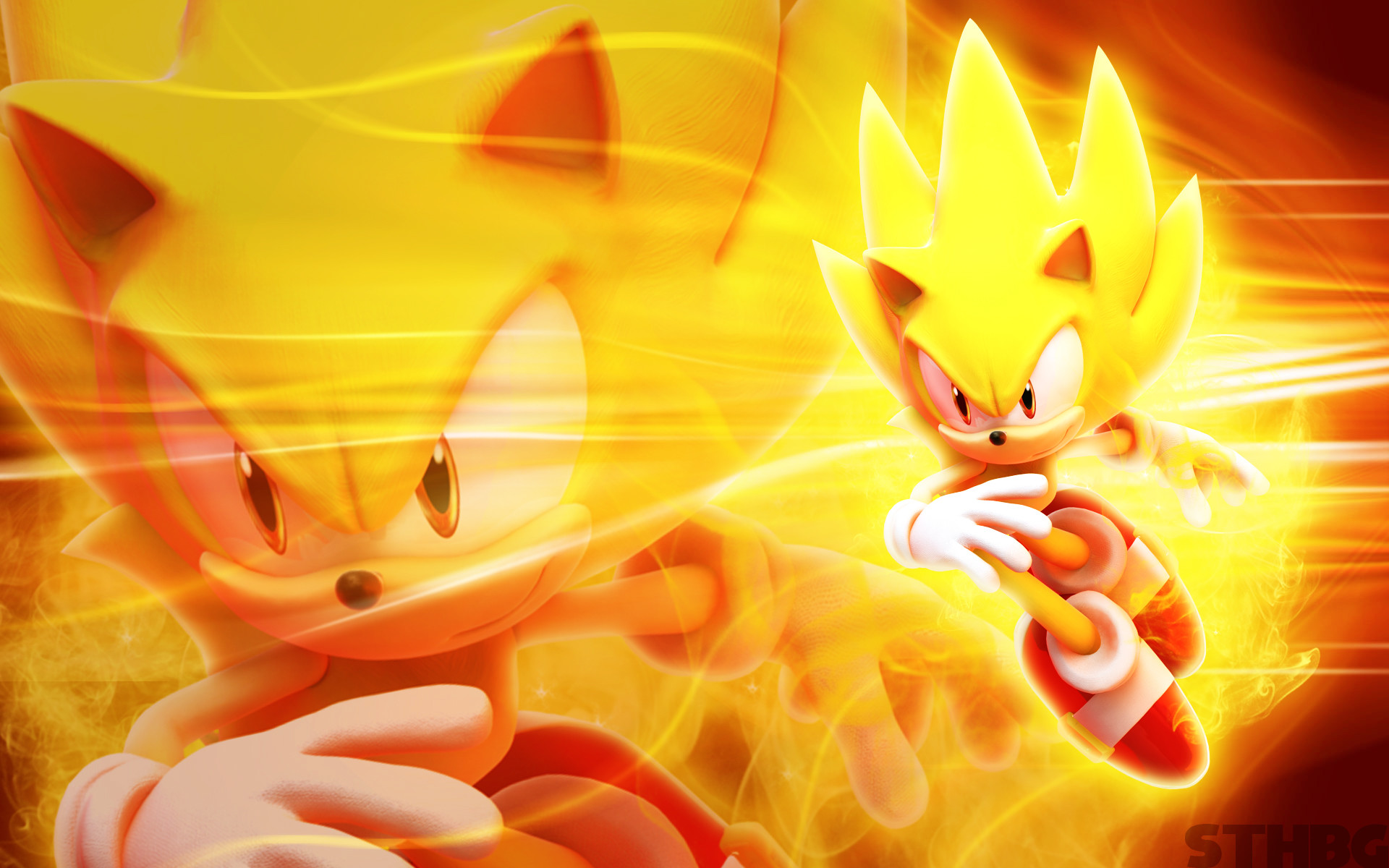 1920x1200 Super Sonic Shadow And Silver Wallpaper Viewing Gallery