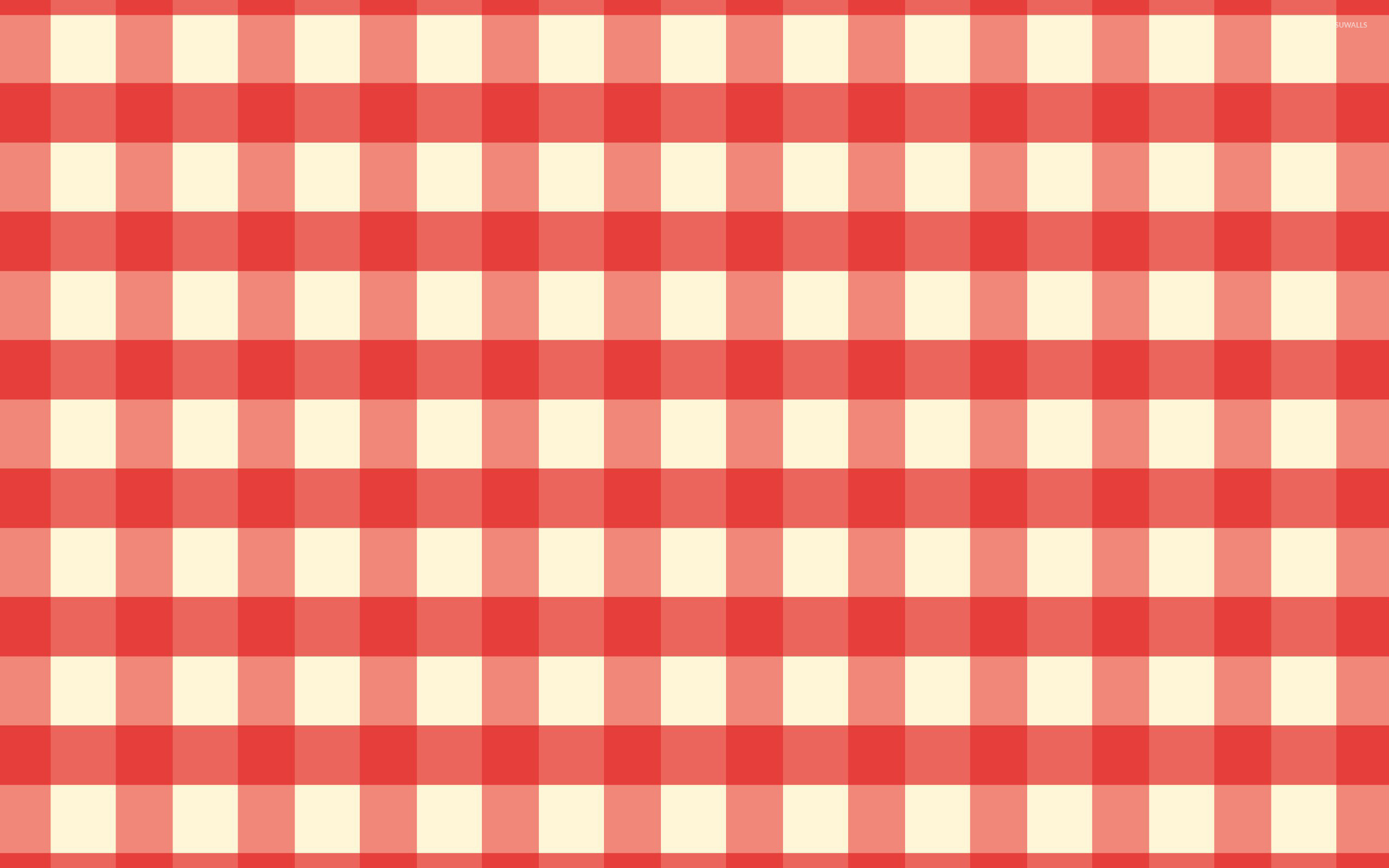 2560x1600 Red and white tablecloth wallpaper