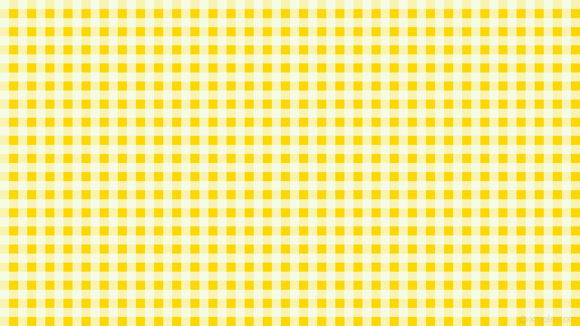 Wallpaper Aesthetic Yellow Checkered Background Petswall