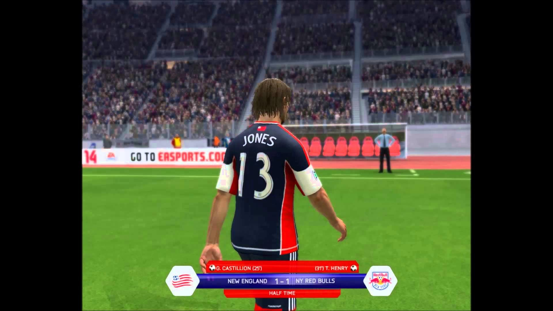 1920x1080 FIFA 14 Gameplay - New England Revolution vs New York Red Bulls