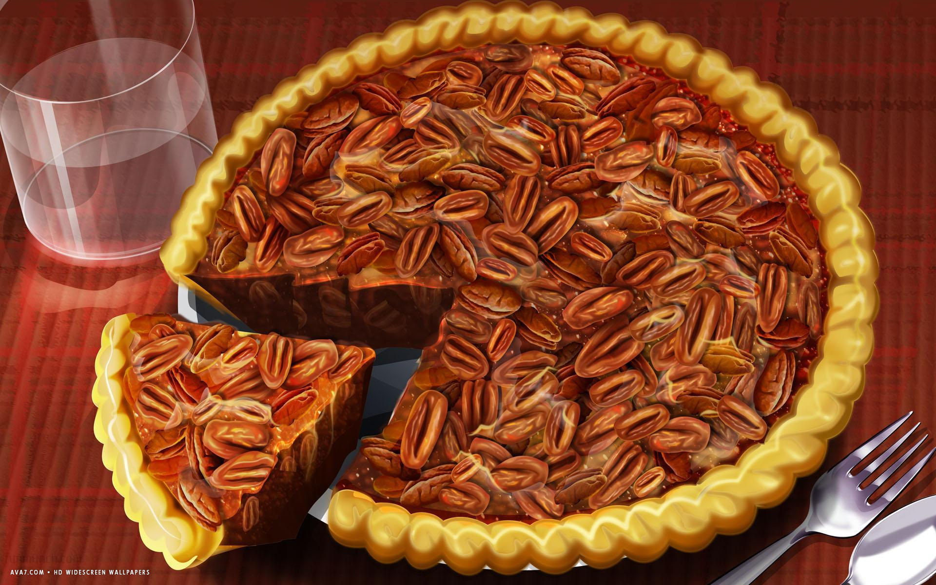 1920x1200 thanksgiving day food pecan pie slice holiday hd widescreen wallpaper