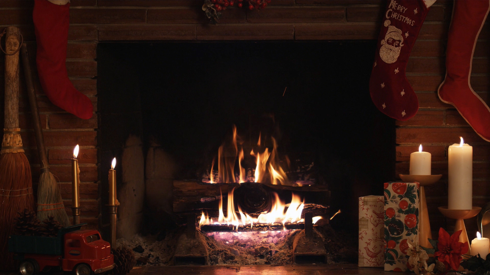 1920x1080 christmas fireplace fire holiday festive decorations Yule Wallpaper Blessed  Yule Facebook Covers
