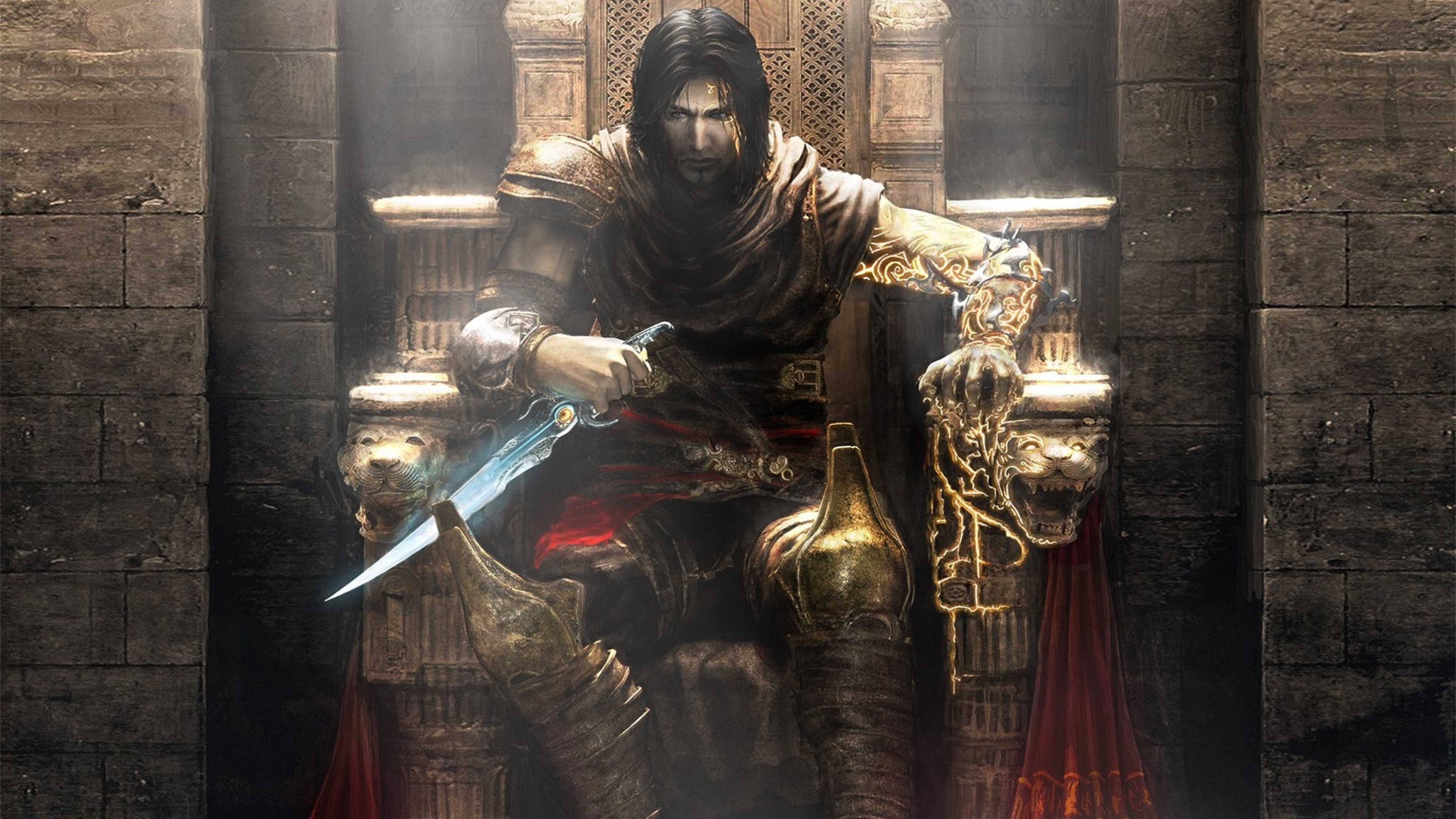3840x2160  Wallpaper prince of persia, throne, knife, armor