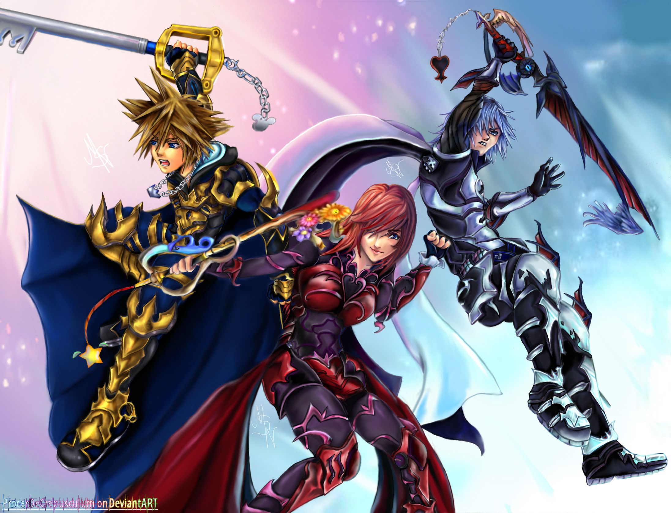 2193x1677 Keyblade Masters: The Next Generation by ProcerDeCrepusculum.deviantart.com  on @deviantART