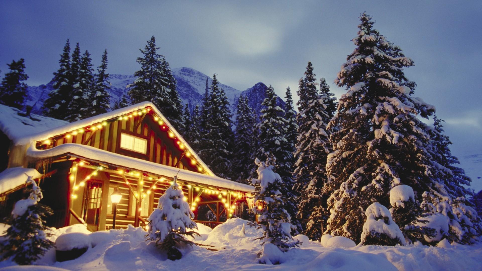 1920x1080 christmas wallpaper mountains snowy scene 1920x1080