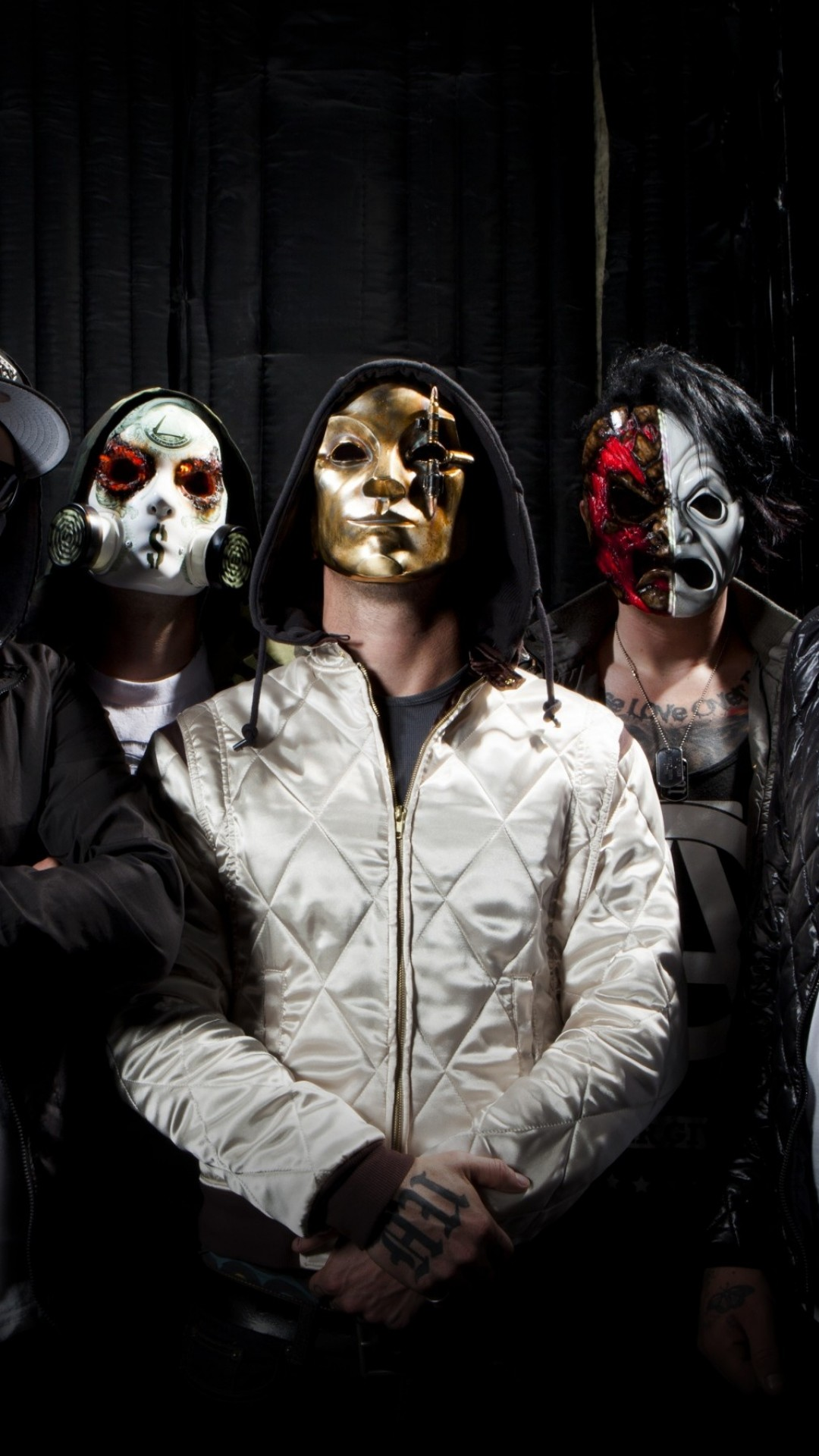 1080x1920  Wallpaper hollywood undead, hollywood, undead, musicians