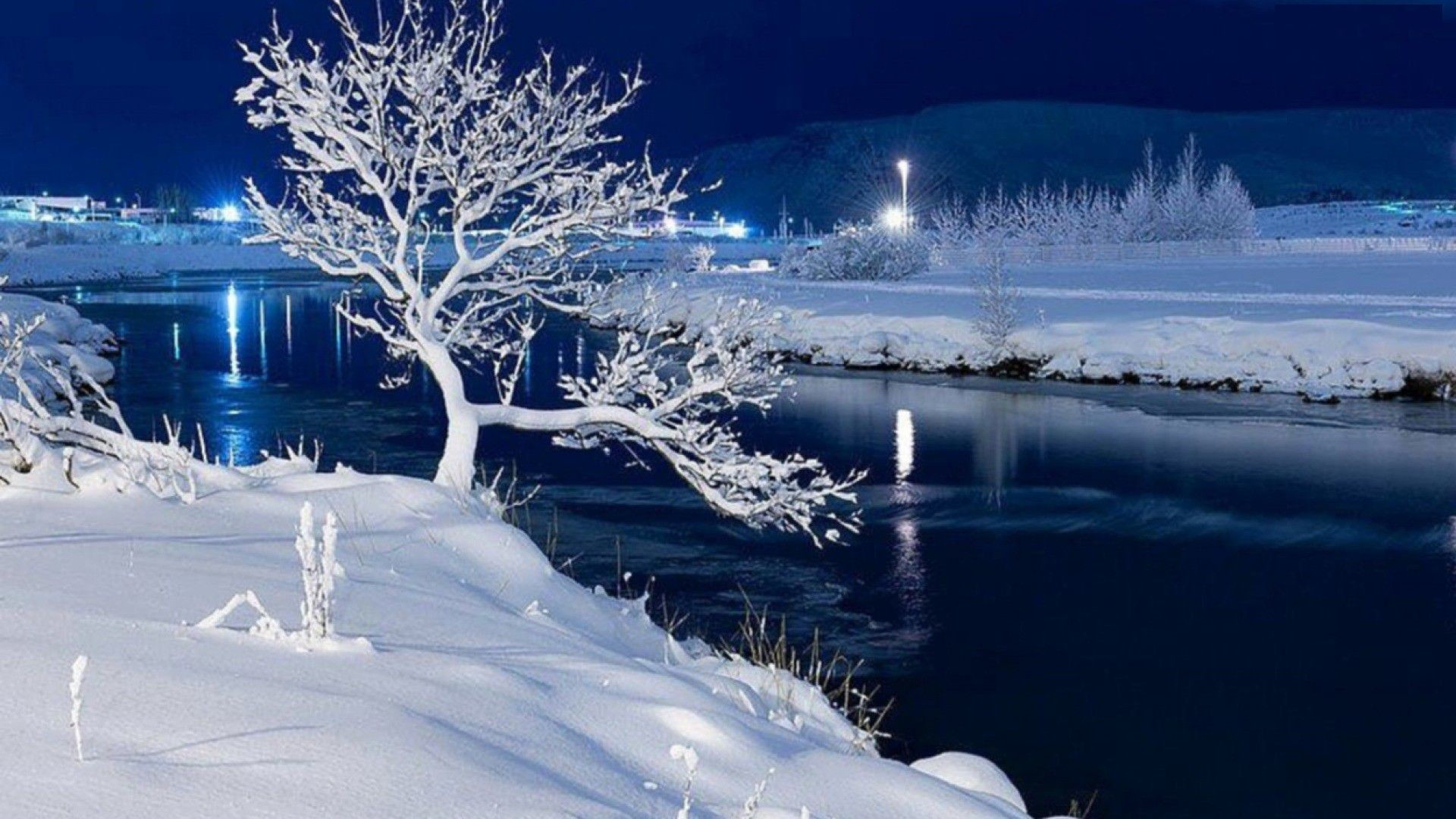 Snowy Night Wallpapers - Top Free Snowy Night Backgrounds - WallpaperAccess