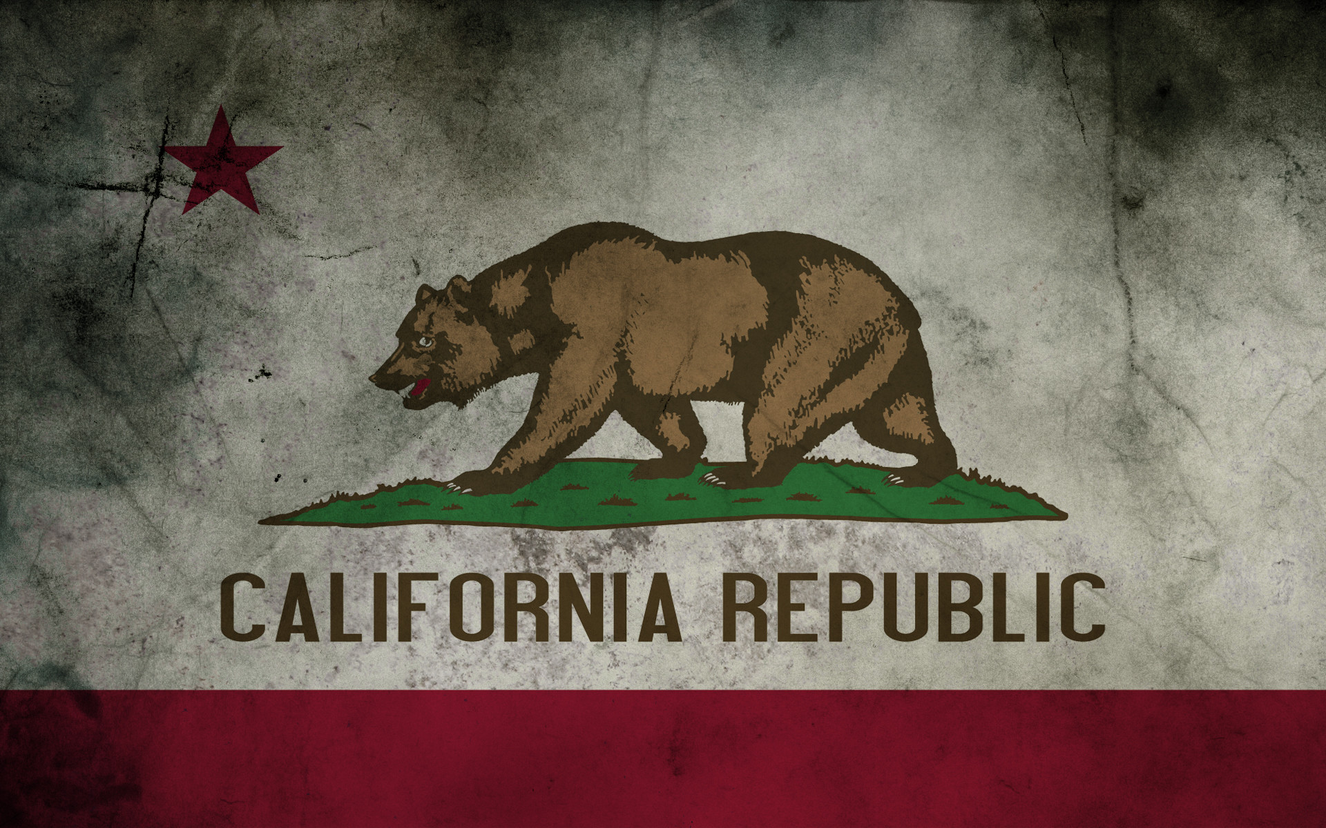 1920x1200 California Flag Wallpaper