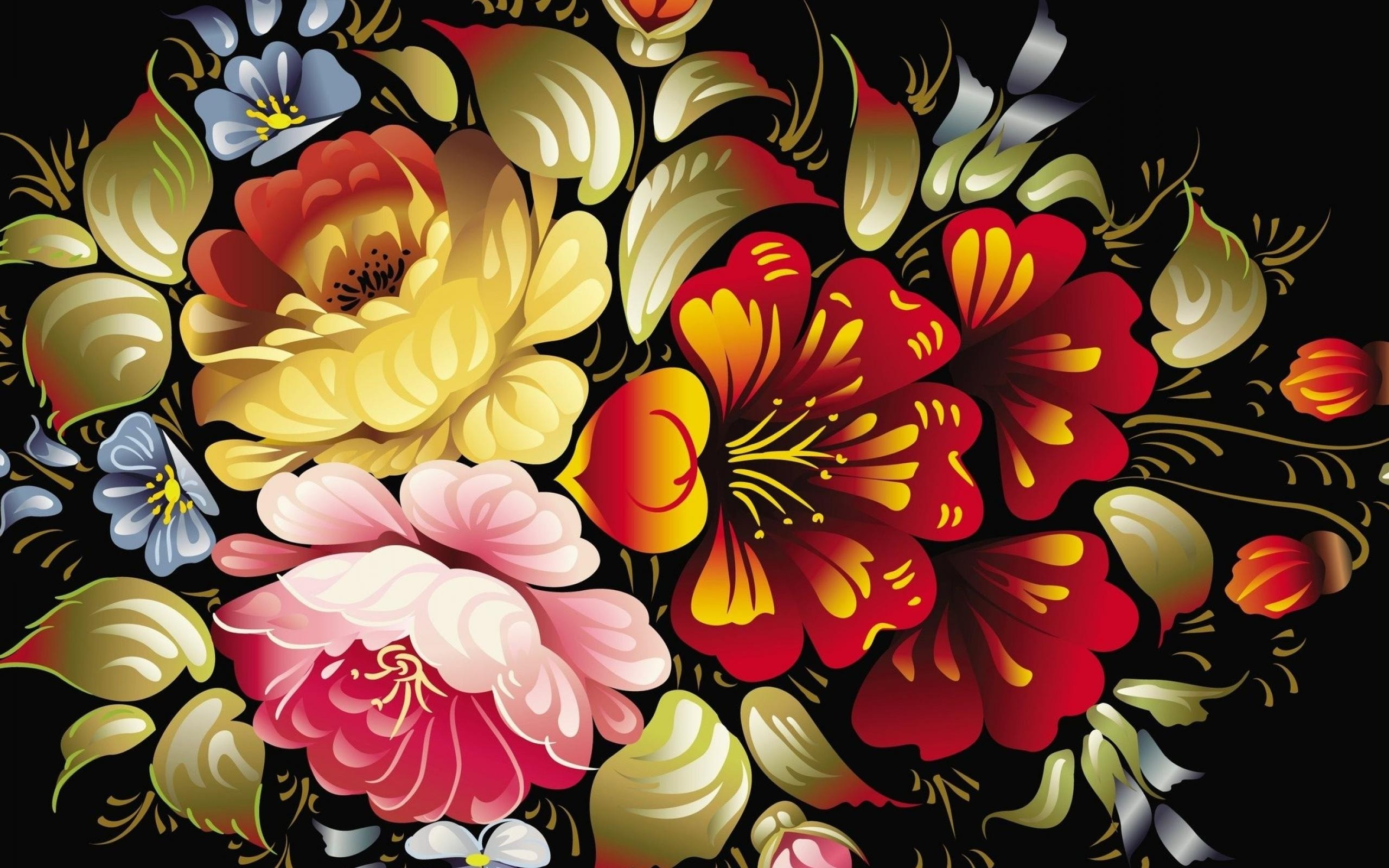 2560x1600 ... abstract flower wallpapers hd. ...