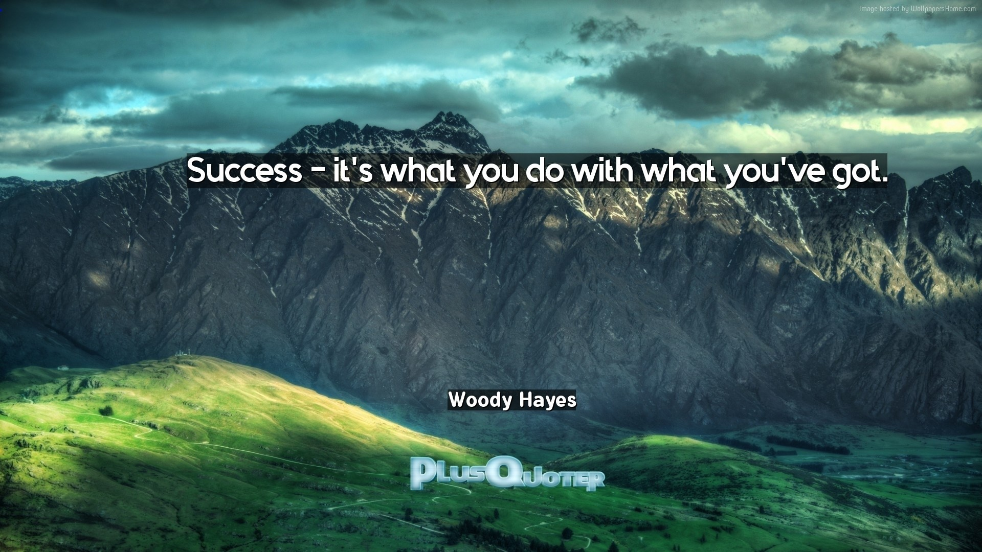 "1920x1080 Download Wallpaper with inspirational Quotes- ""Success - it"