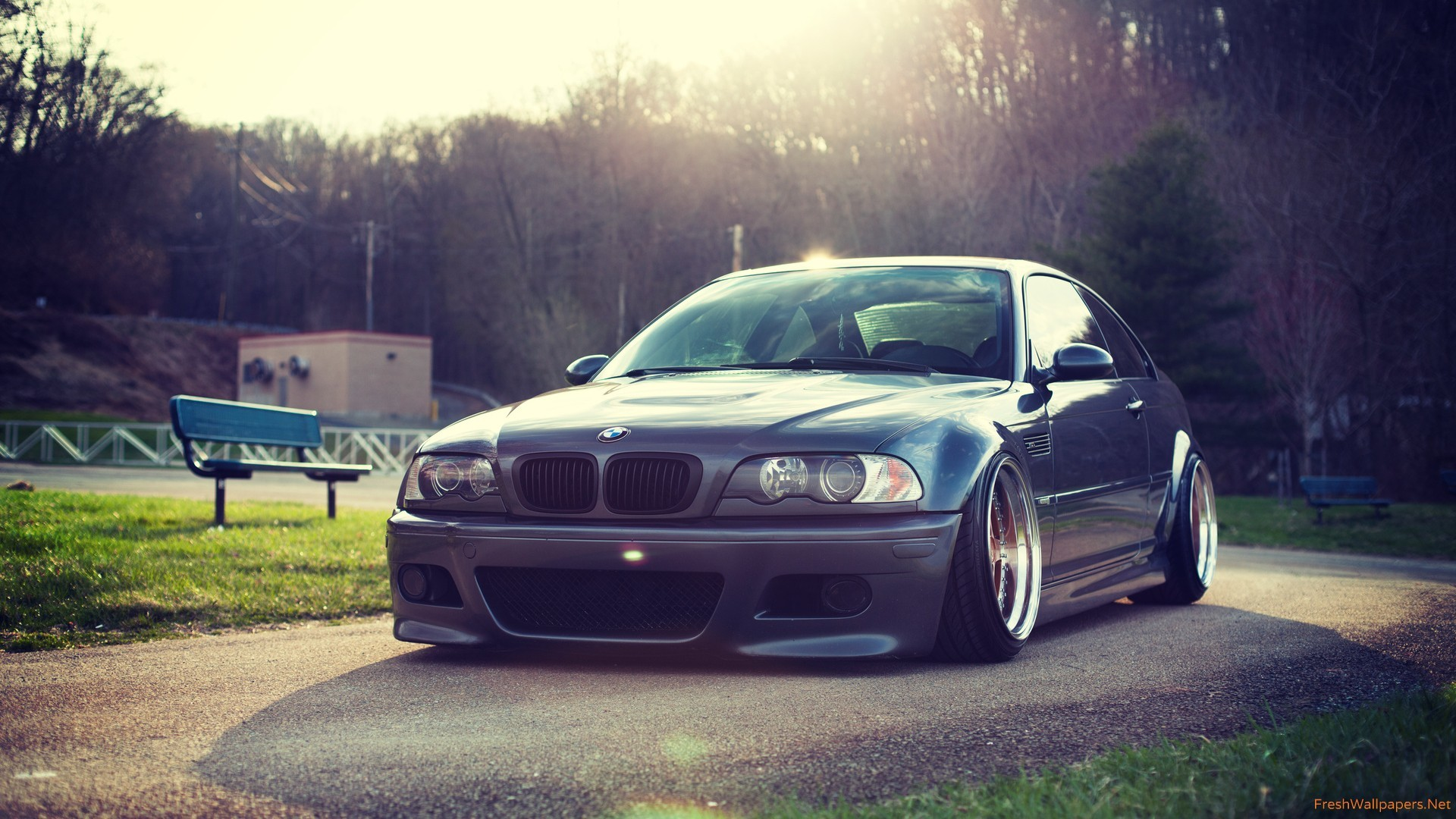 1920x1080 bmw-e46-m3-car-front-tuning Wallpaper: