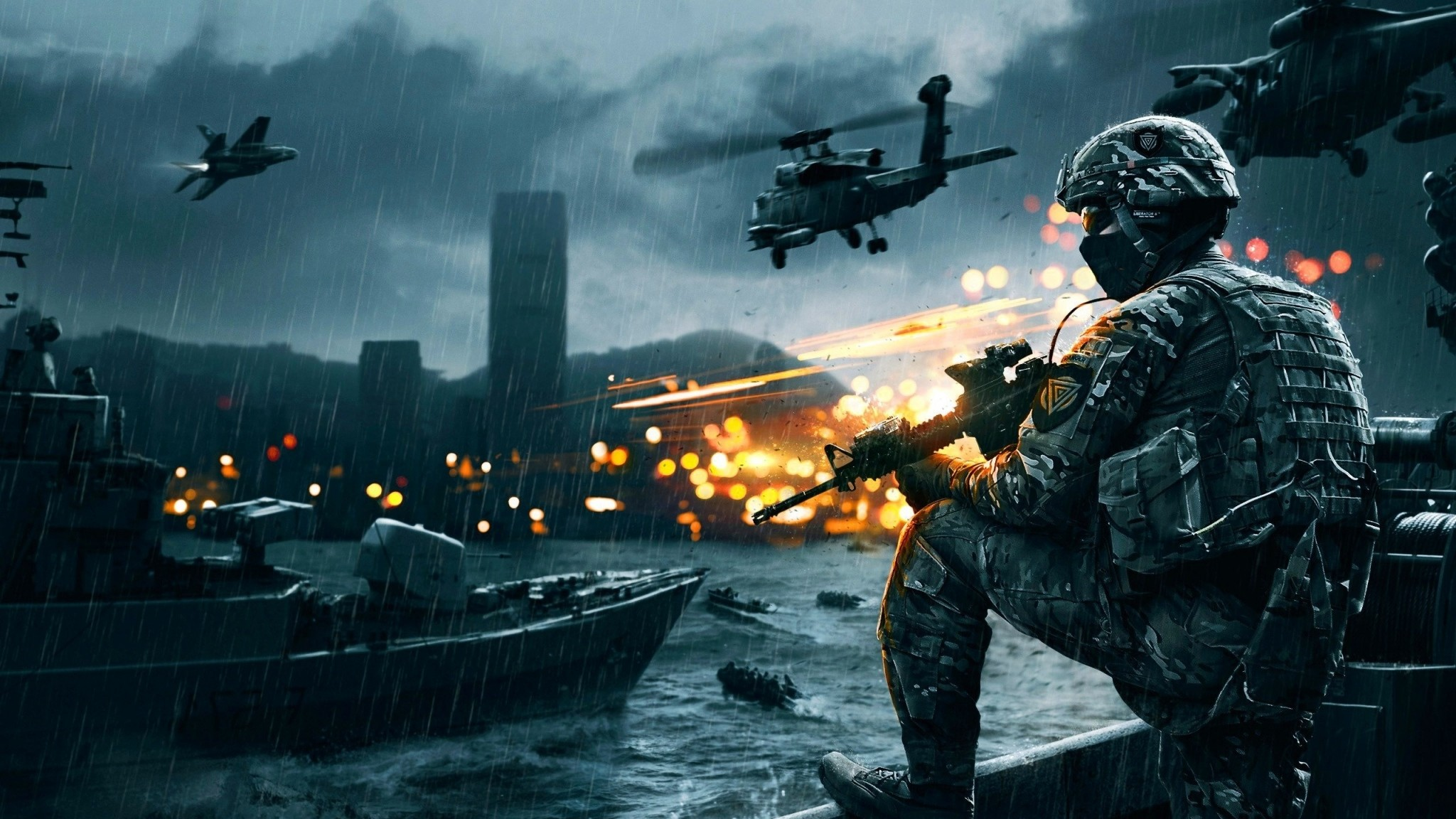 2048x1152 Preview wallpaper battlefield 4, game, ea digital illusions ce