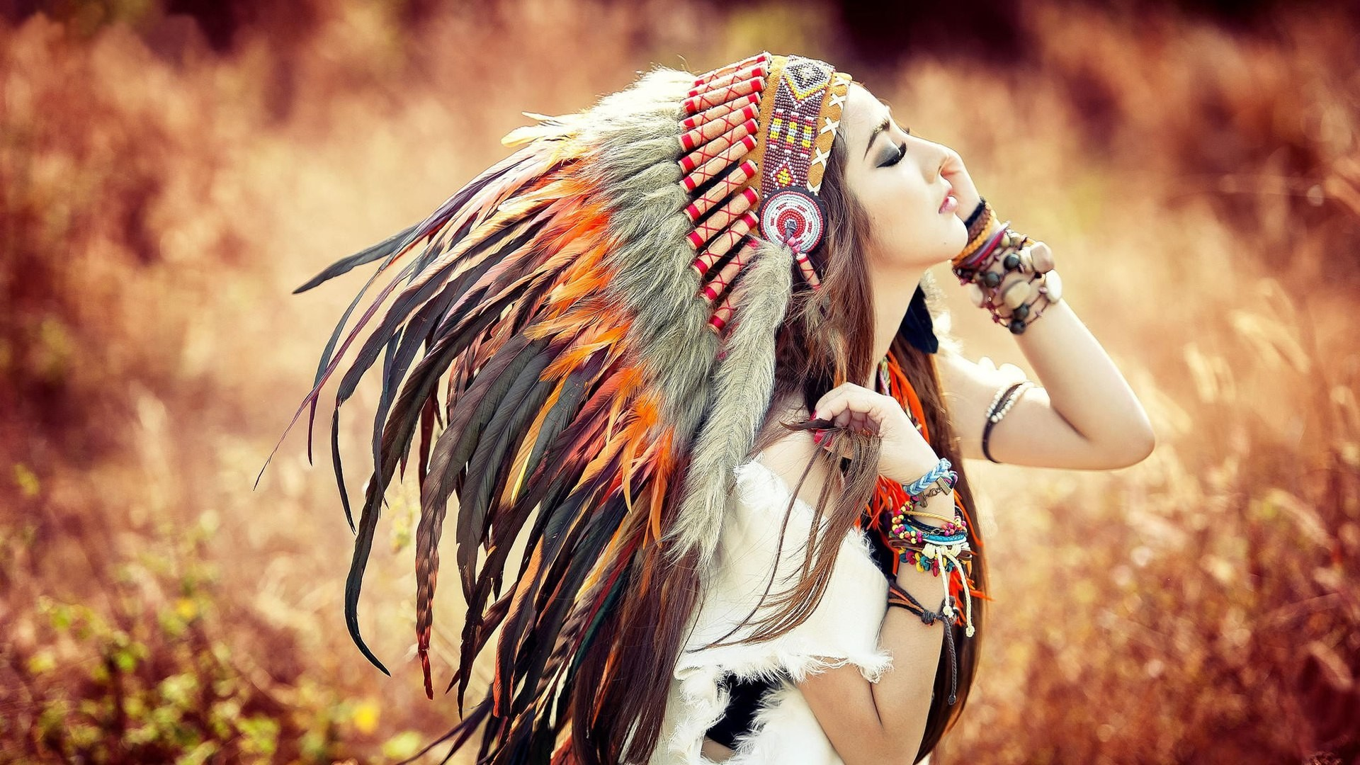 1920x1080 Native American Girl wallpaper