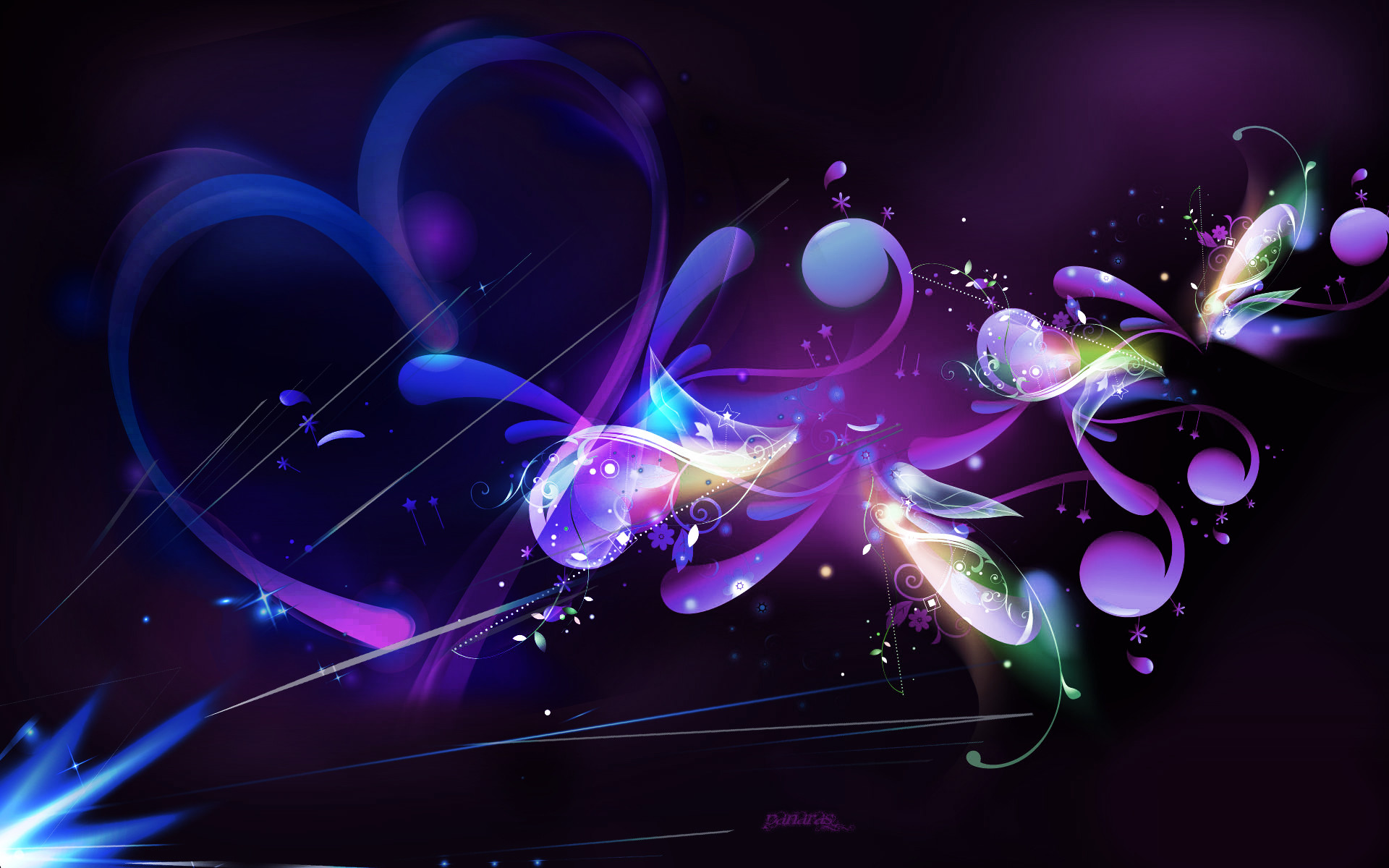 1920x1200 Black and Purple Abstract Wallpapers