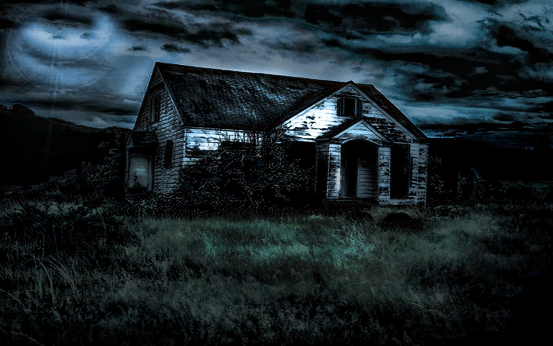1920x1200 Scary House Backgrounds