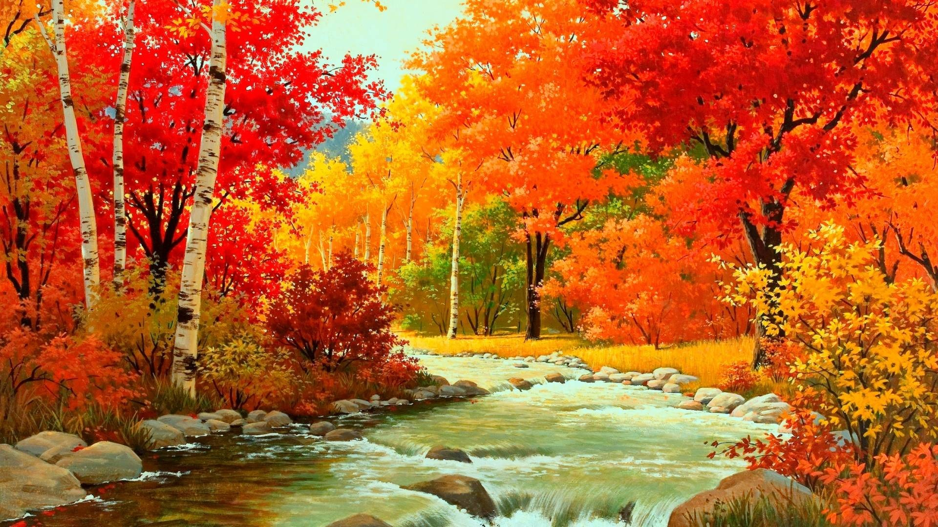 1920x1080 Natural Autumn Landscape HD Wallpapers Background