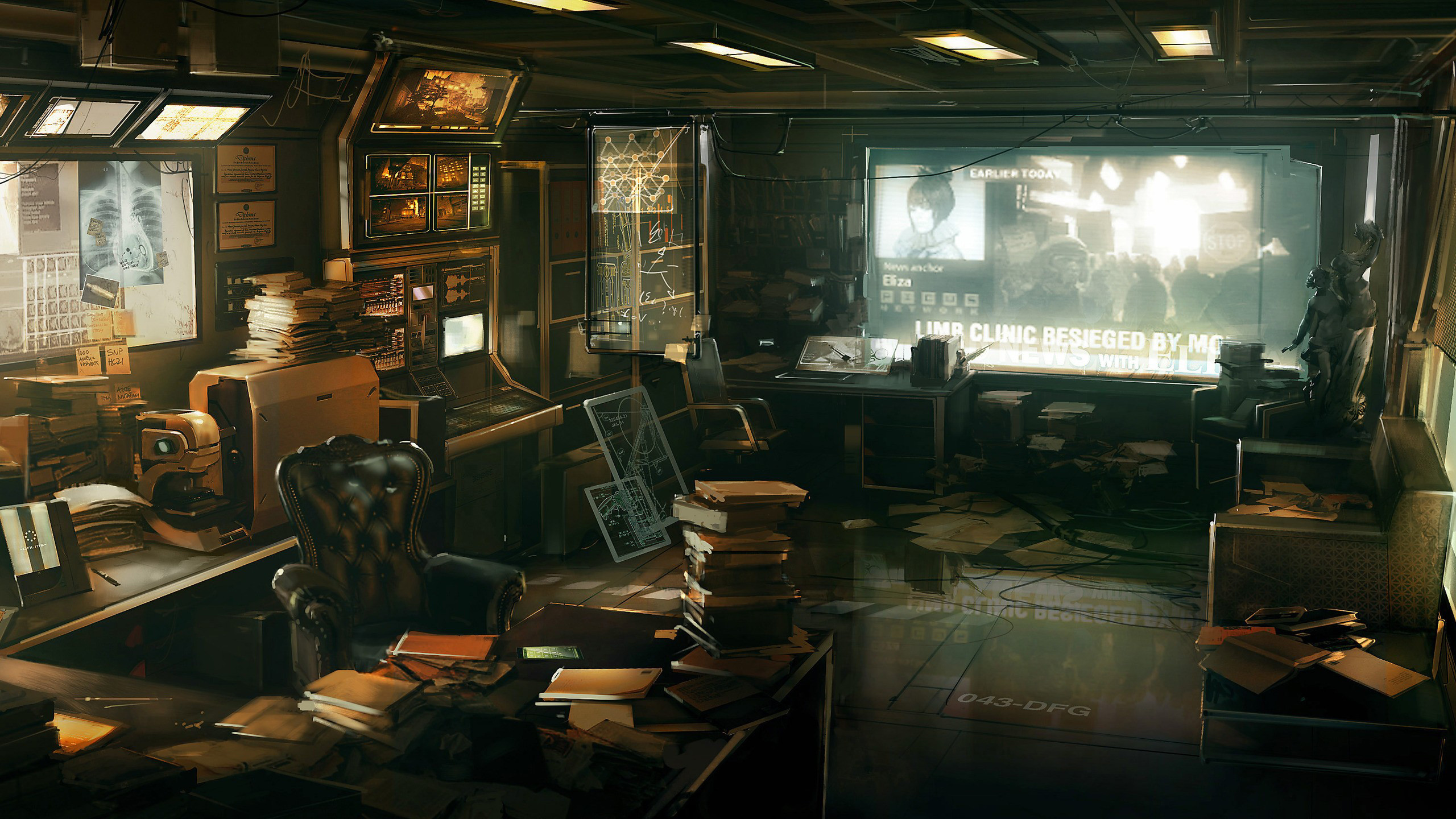 2560x1440 Deus Ex: Human Revolution detailed futuristic illustrations realistic  wallpaper (#1362587) / Wallbase