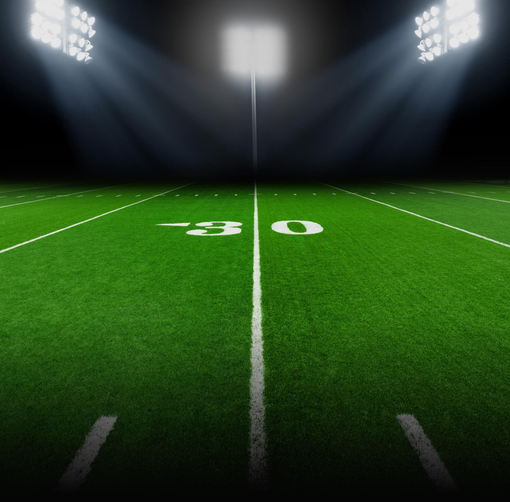 2140x2106 Background - Football Field with Stadium Lights