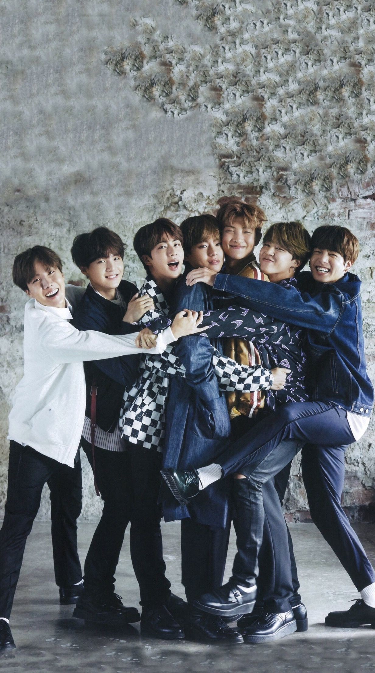 1232x2208 BTS Wallpaper | BTS Japan Magazine | BTS ANAN Magazine | BTS Group Shot |  Bangtan