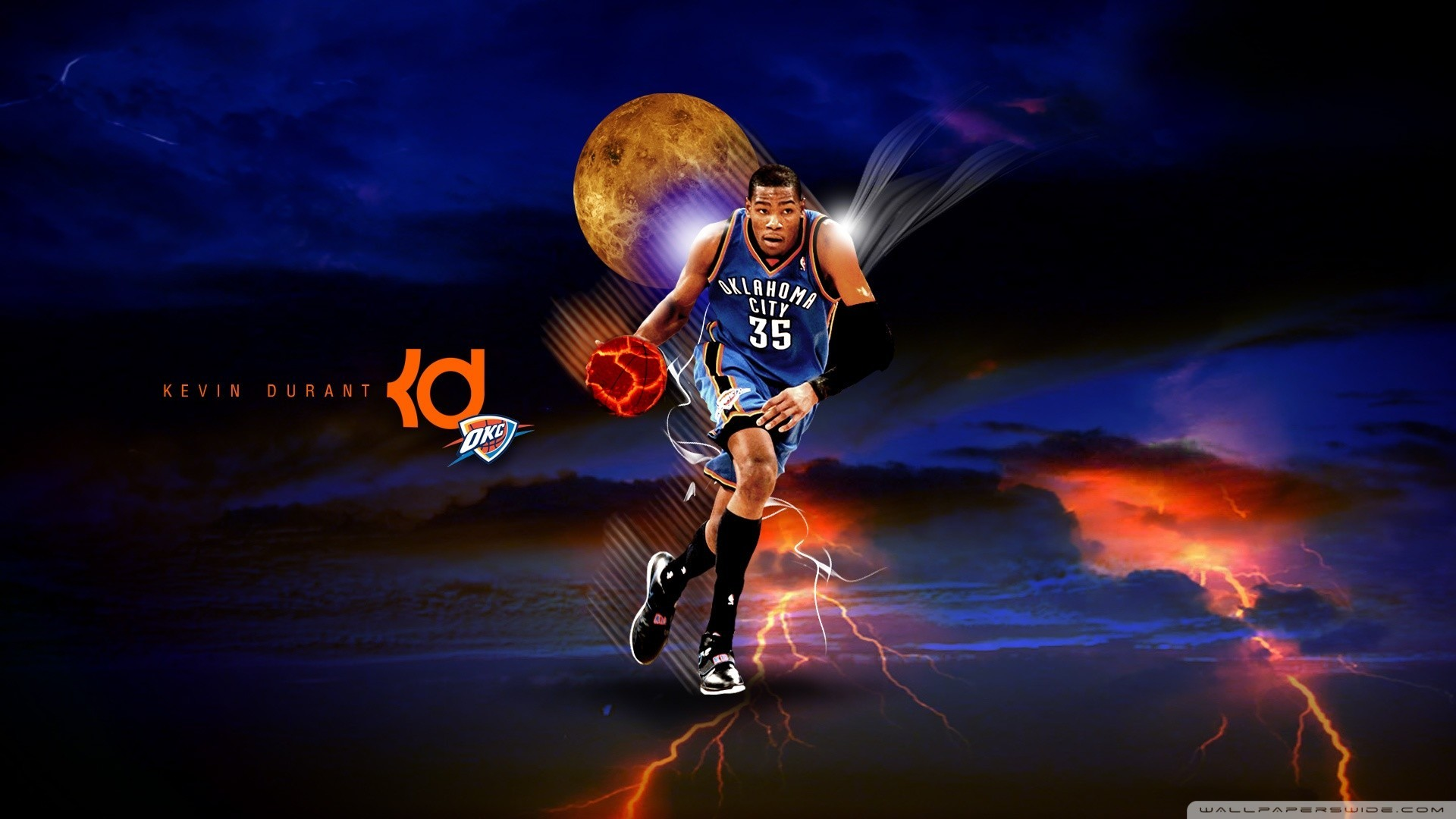 1920x1080 Kevin Durant Russell Westbrook Wallpaper | HD ...