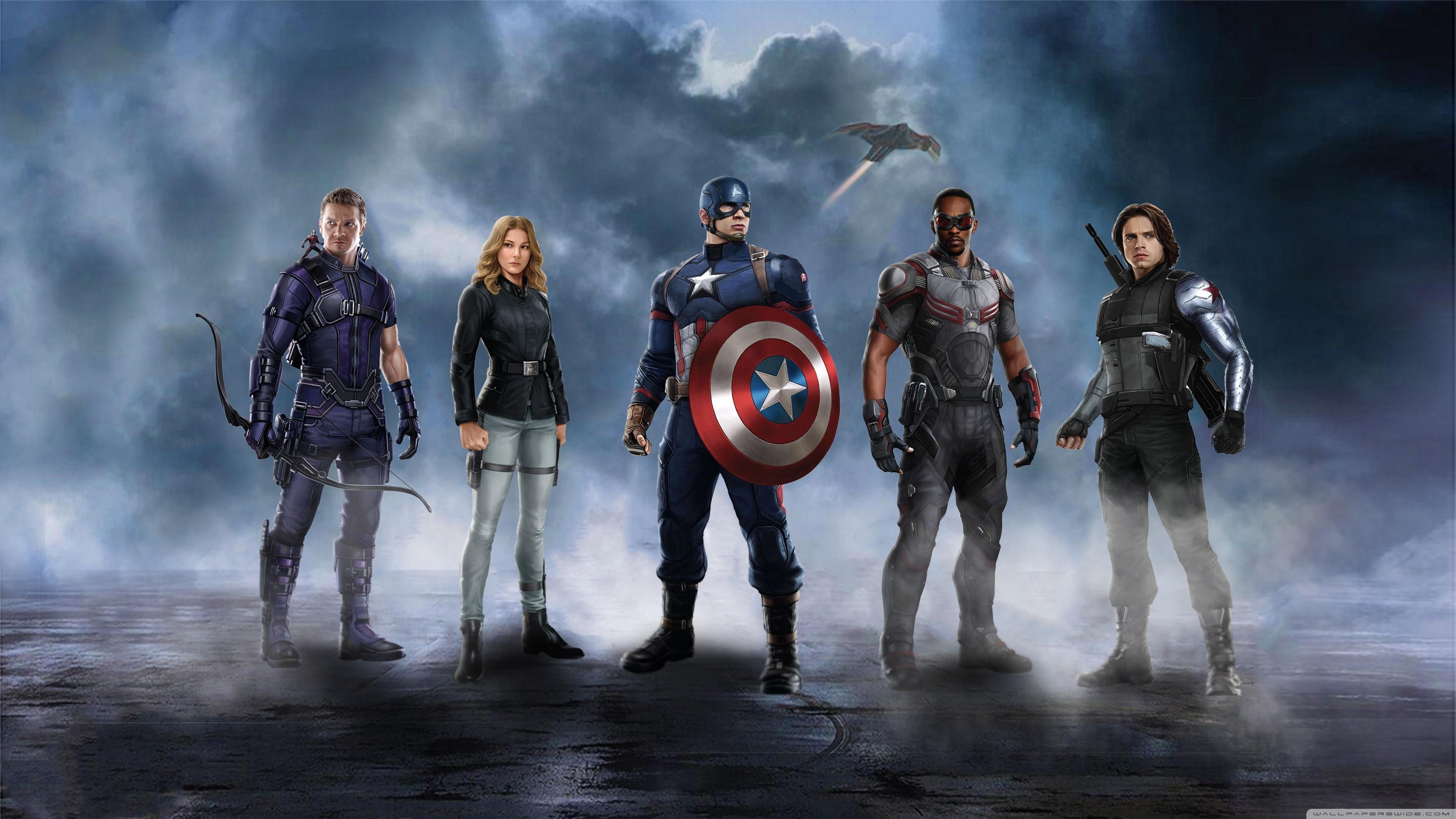 Captain America Civil War 4k: Captain America Civil War Desktop Wallpaper (77+ Images