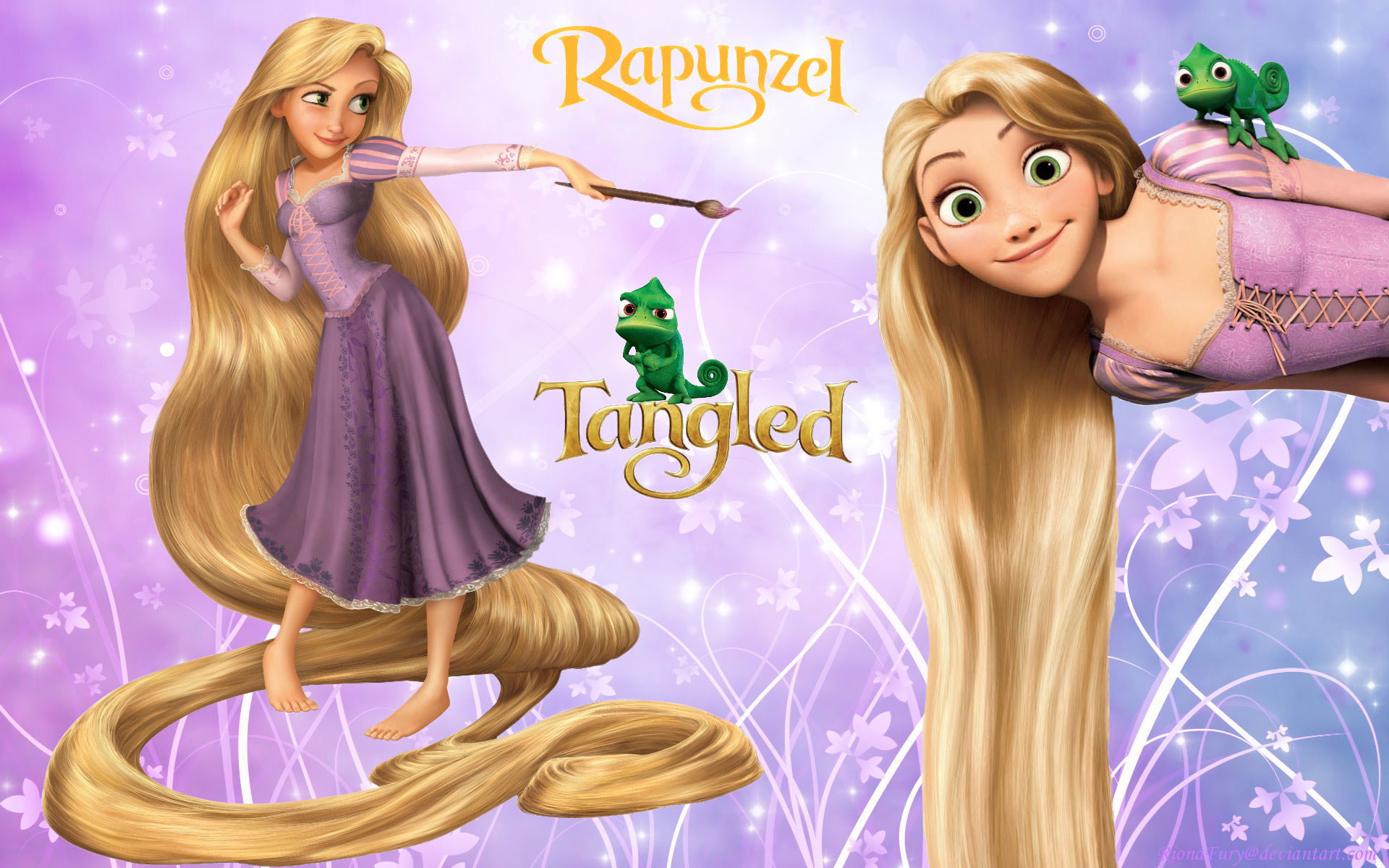 1920x1200 Free Rapunzel Wallpaper
