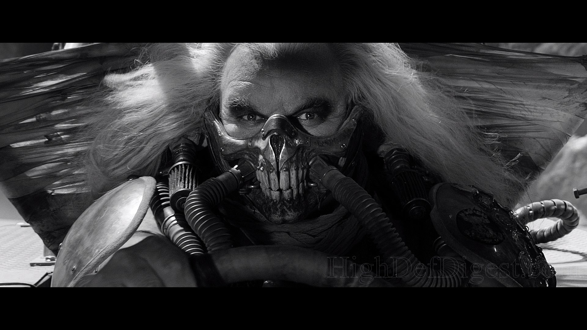 1920x1080 'Fury Road' goes ballistic with a brand new 1080p/AVC MPEG-4 encode,  created from a fresh remaster that was color graded to achieve the proper  grayscale.