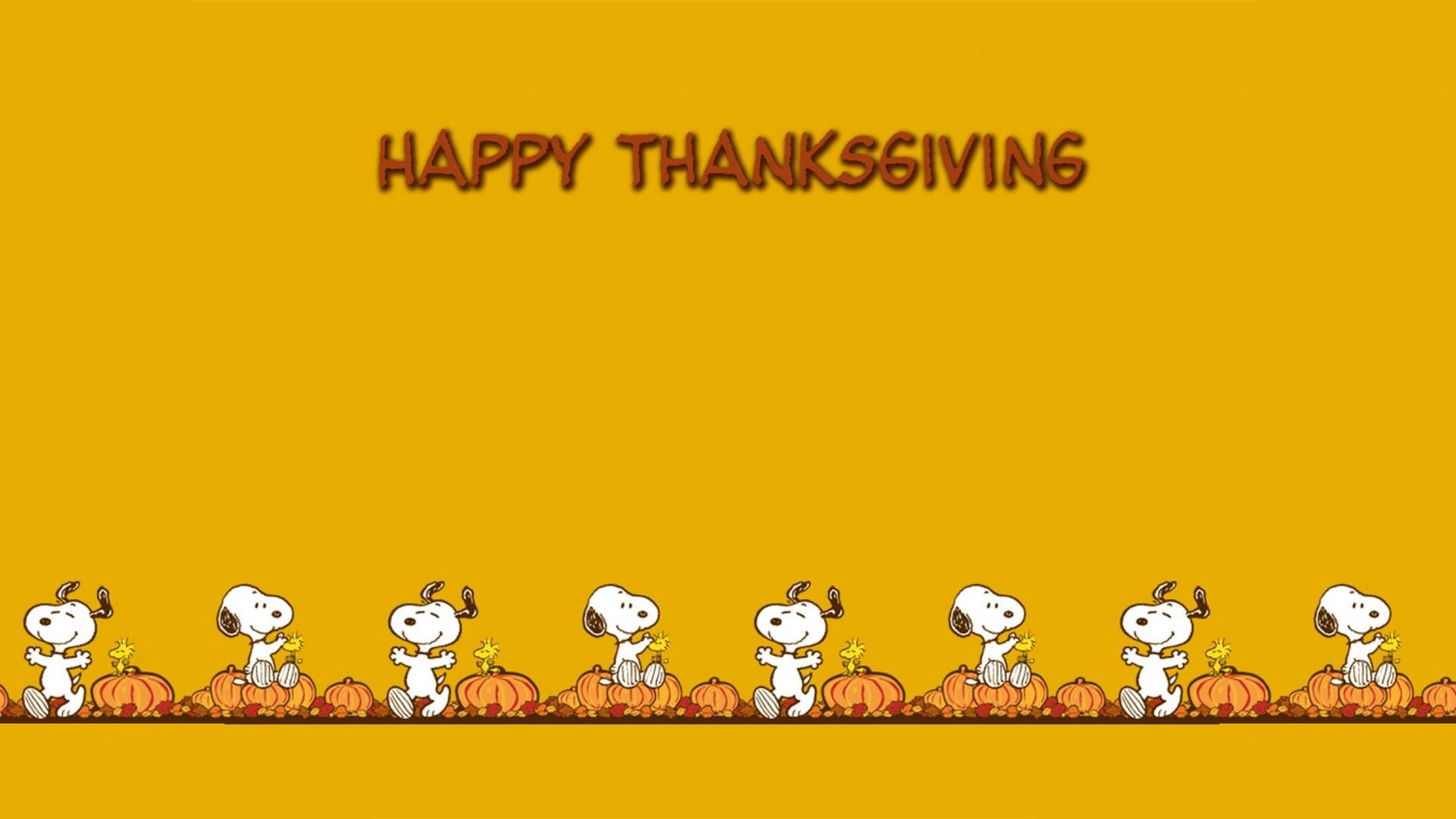 1920x1080 Snoopy Thanksgiving Wallpaper Backgrounds Widescreen