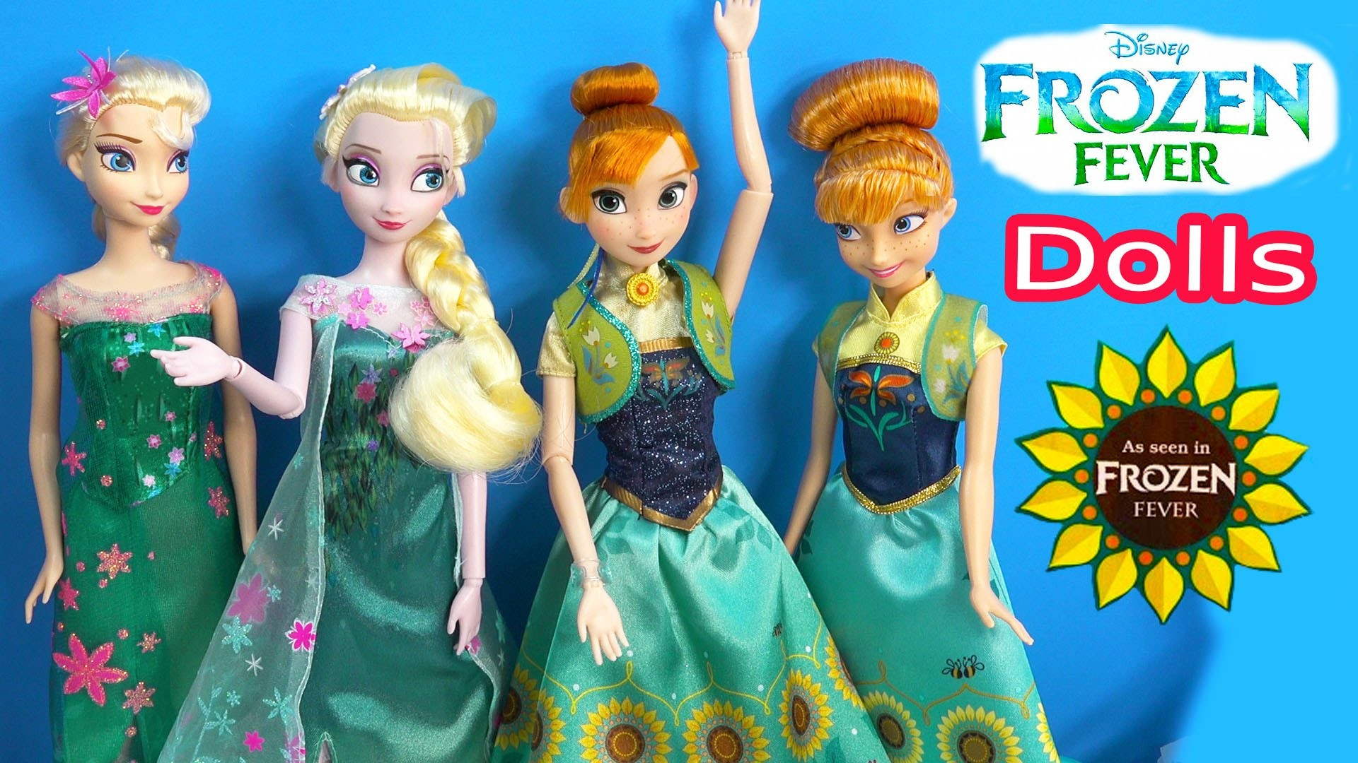 1920x1080 Queen Elsa FROZEN FEVER Princess Anna Disney Store Birthday Party Film  Movie 2 Dolls Unboxing Review - YouTube
