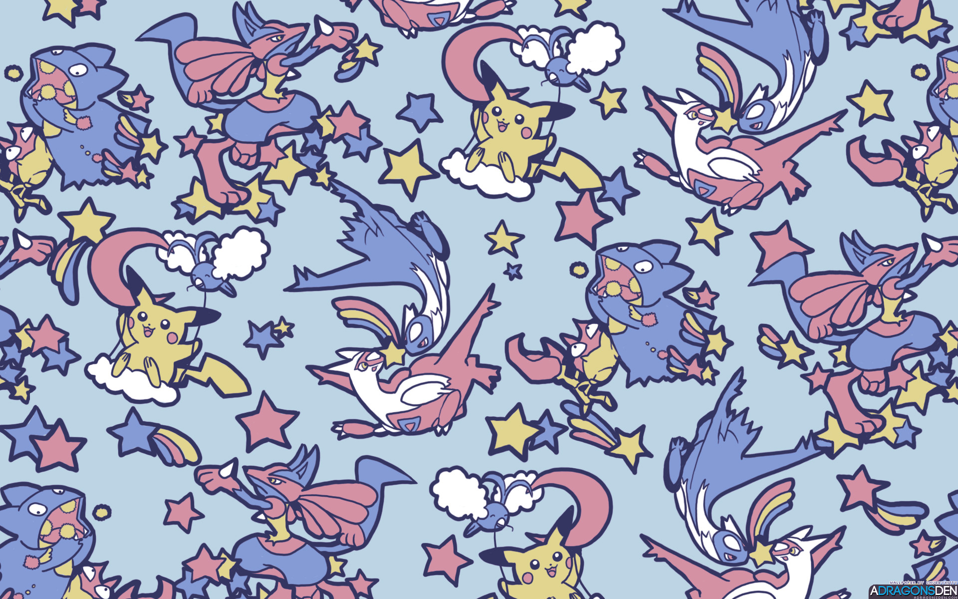 1920x1200 Pokemon and Stars