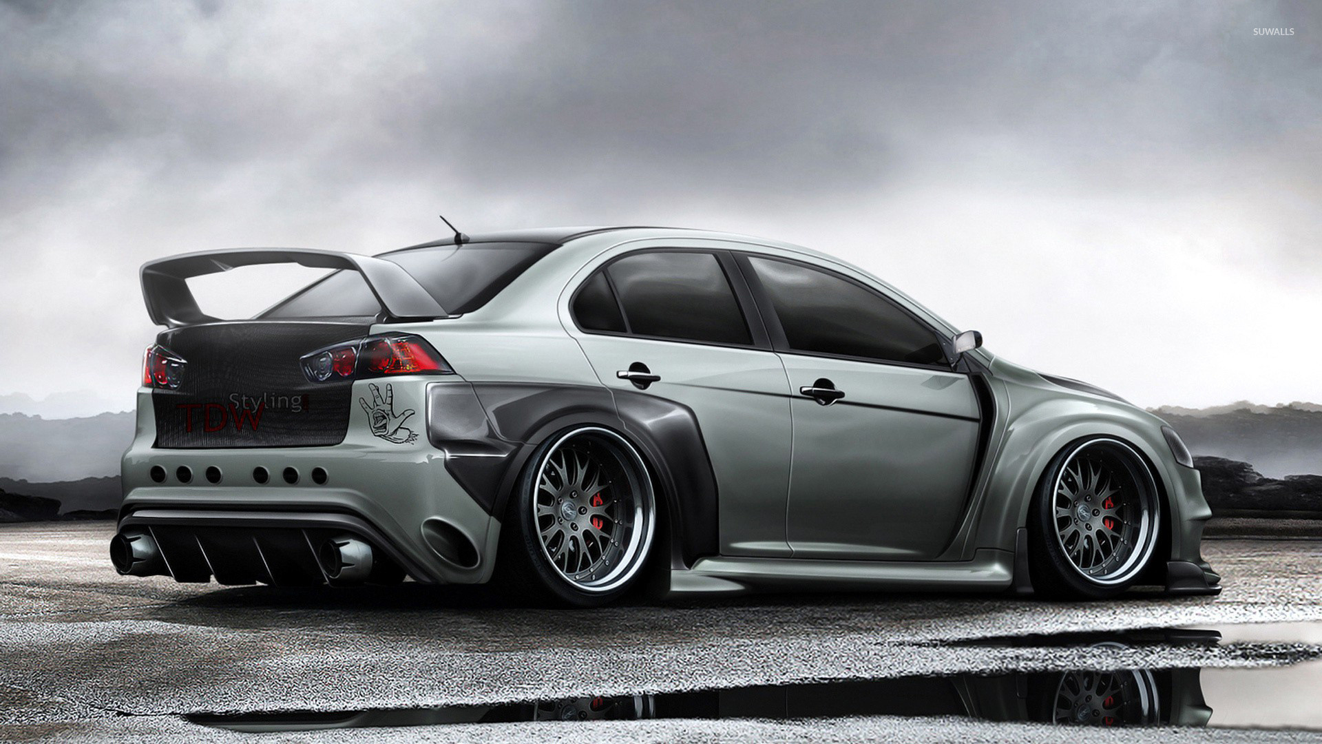 1920x1080 TDW Styling Mitsubishi Lancer Evolution X wallpaper