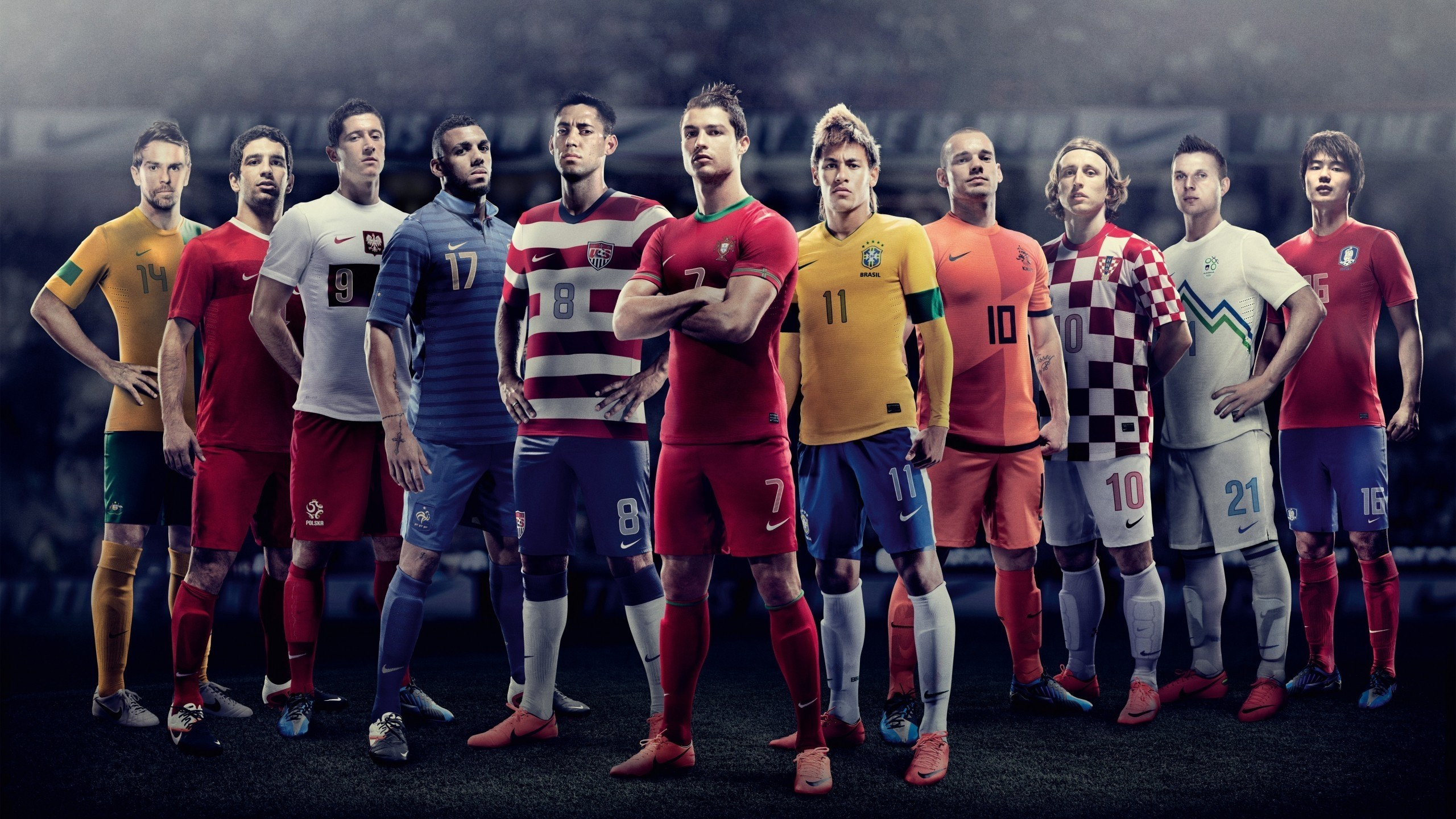 2560x1440 World Cup 2010 Football Team at 2560 x 1440 size