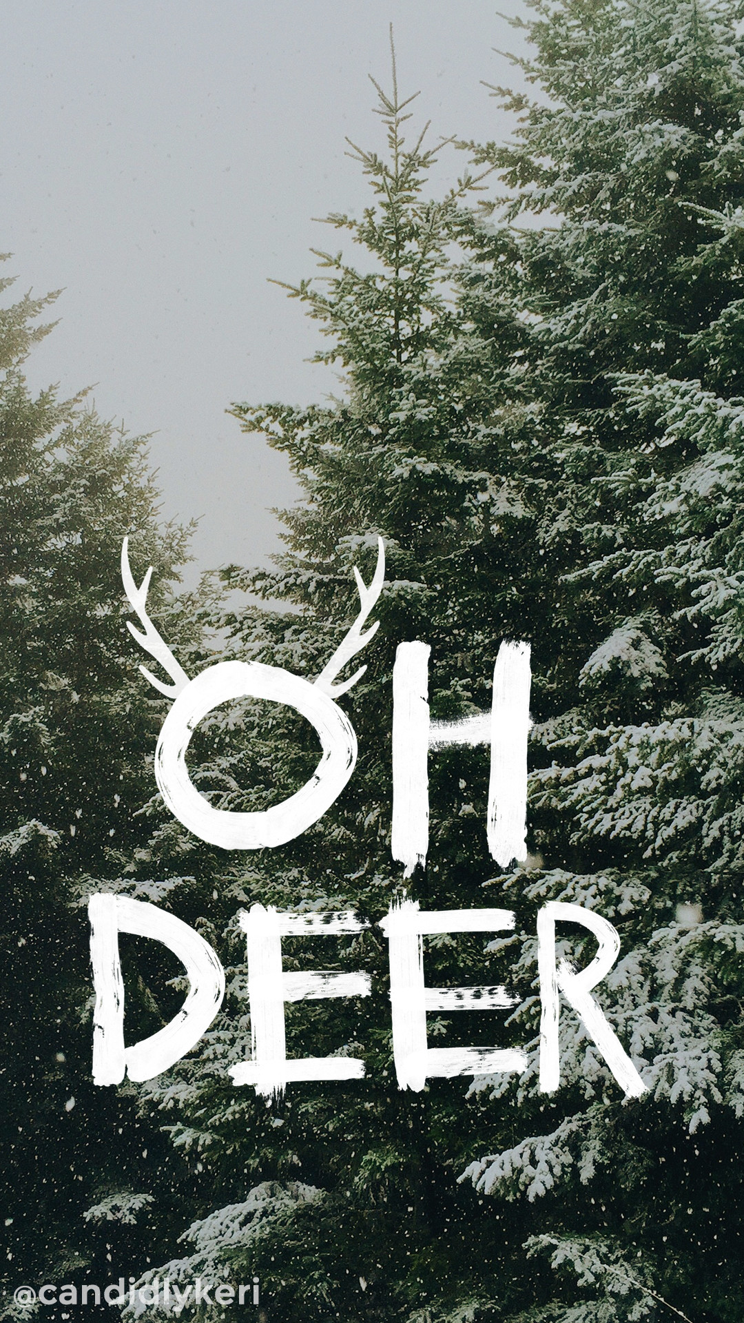 1080x1920 Oh Deer snowy trees Christmas tree cute background wallpaper you can  download for free on the