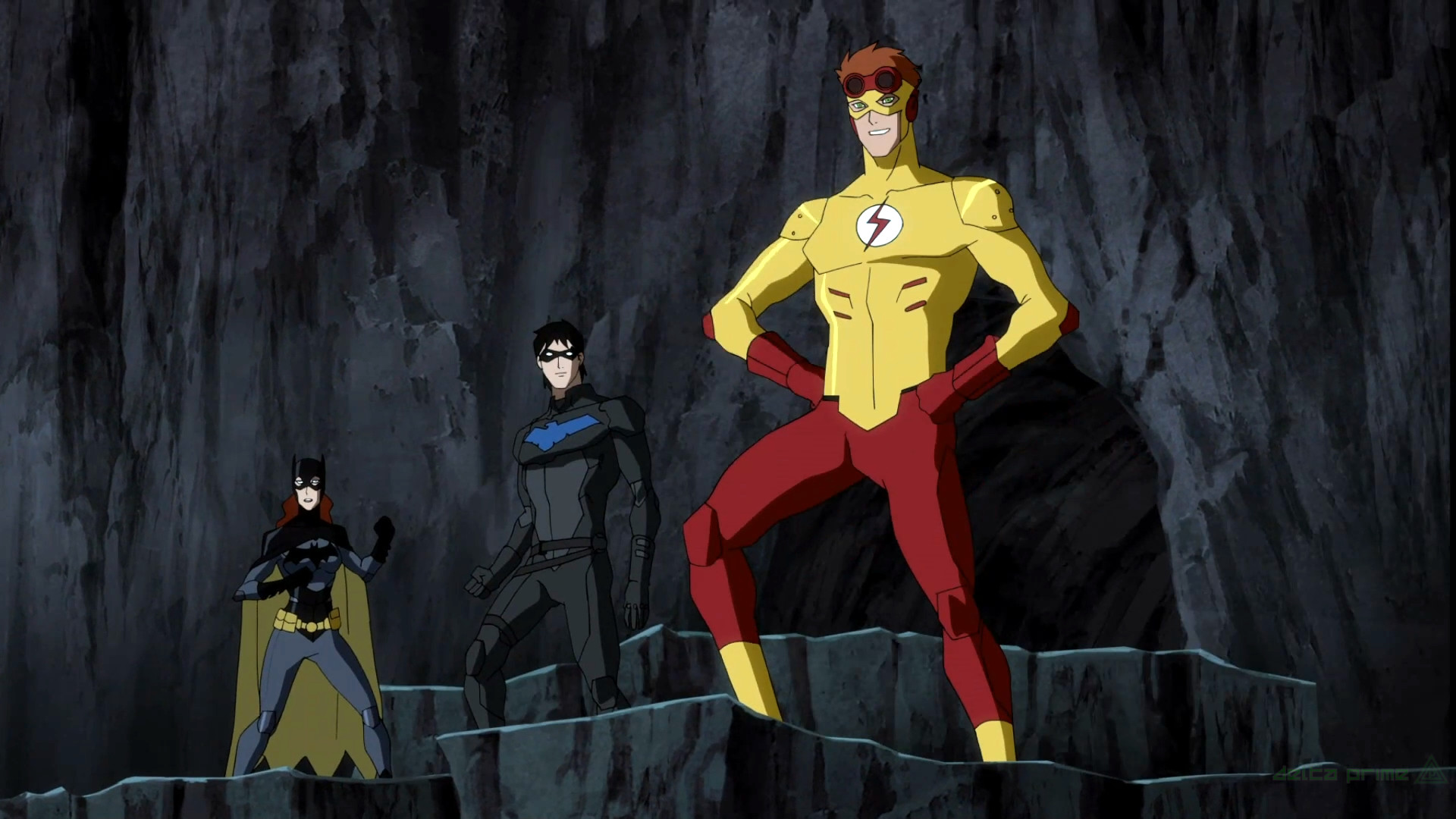 1920x1080 General  Young Justice Kid Flash Wally West Nightwing Oracle Dick  Grayson